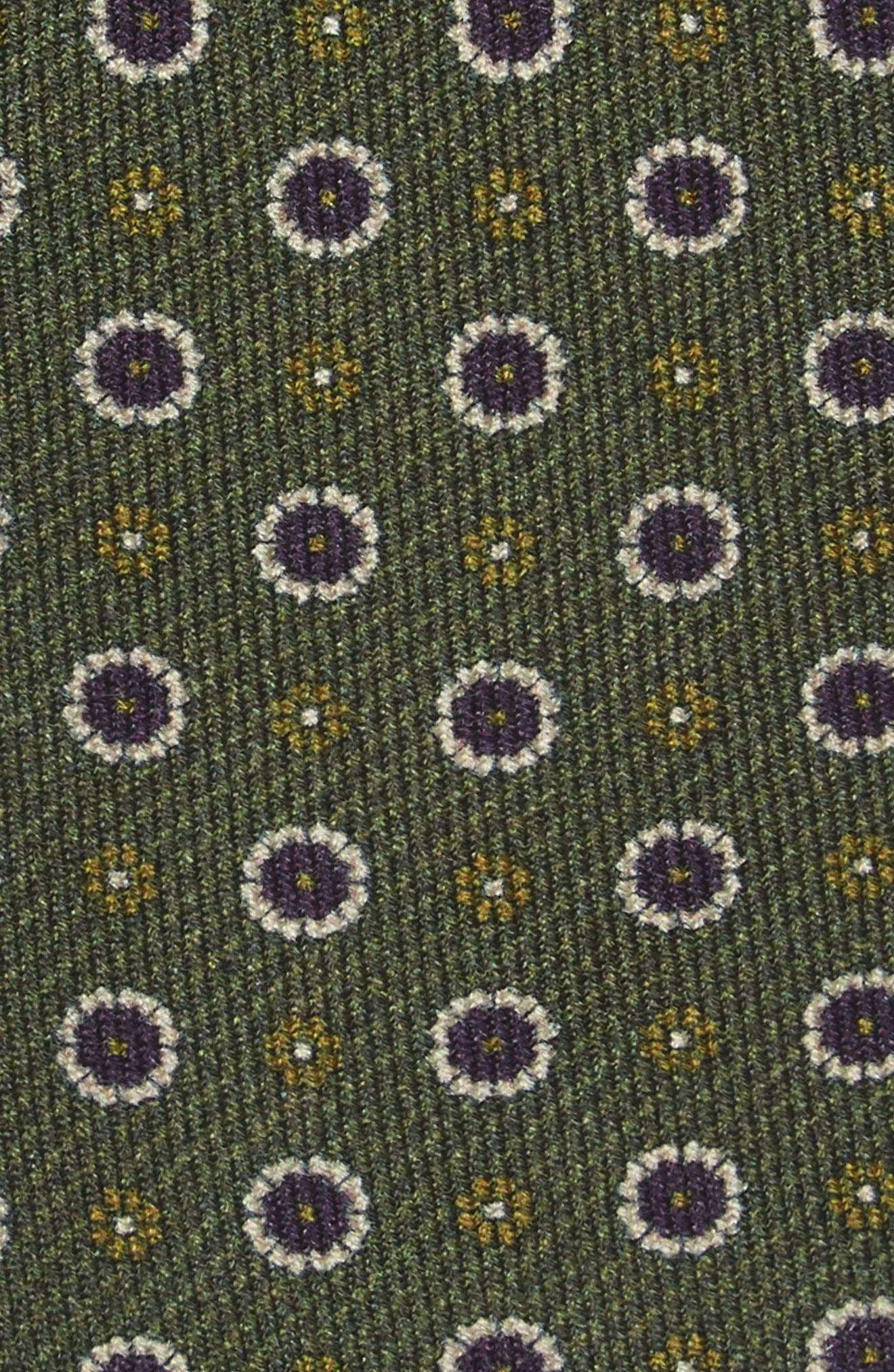 Floral Medallion Wool Tie,                             Alternate thumbnail 2, color,                             308