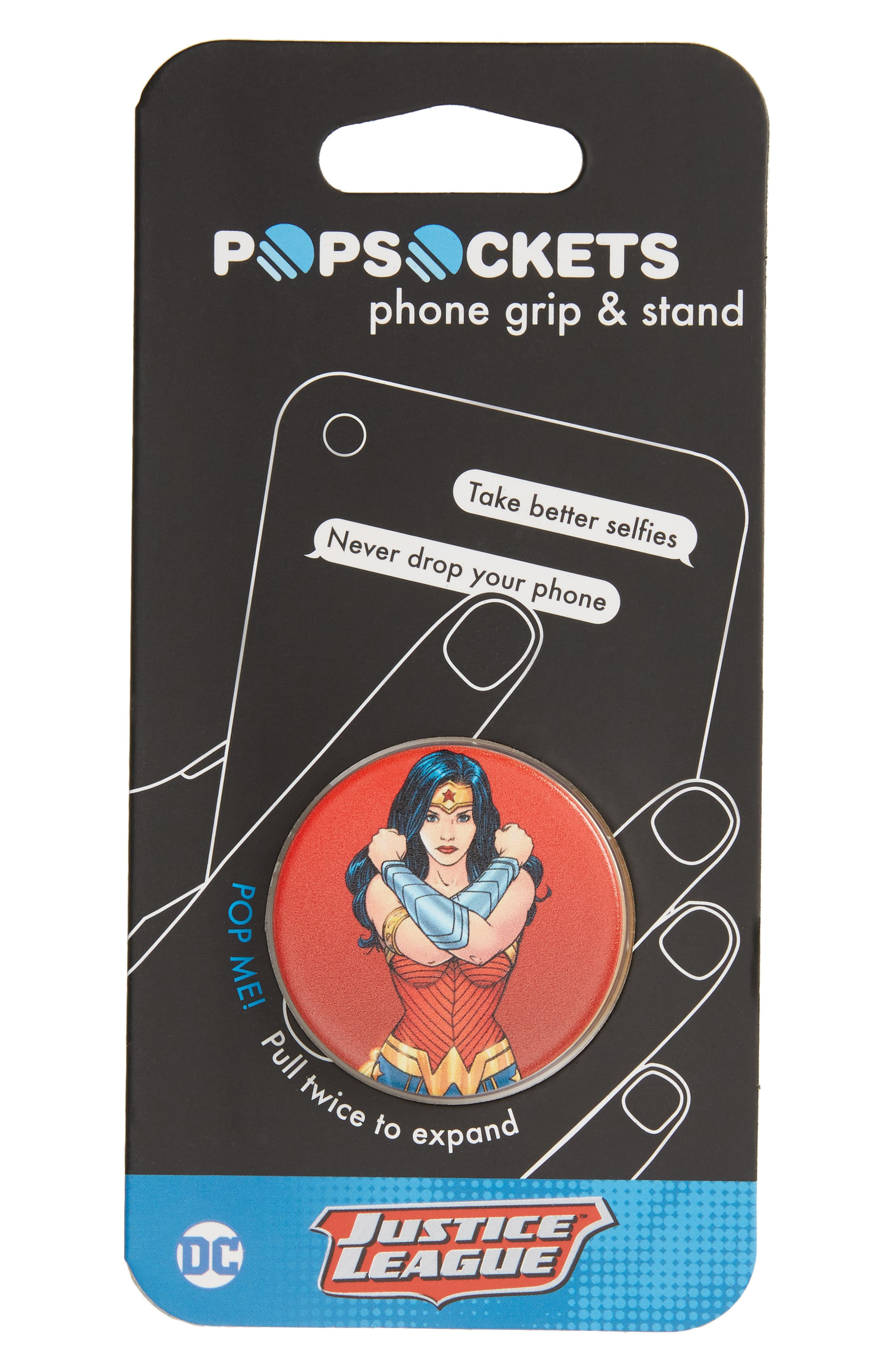 DC Wonder Woman Cell Phone Grip & Stand,                             Main thumbnail 1, color,