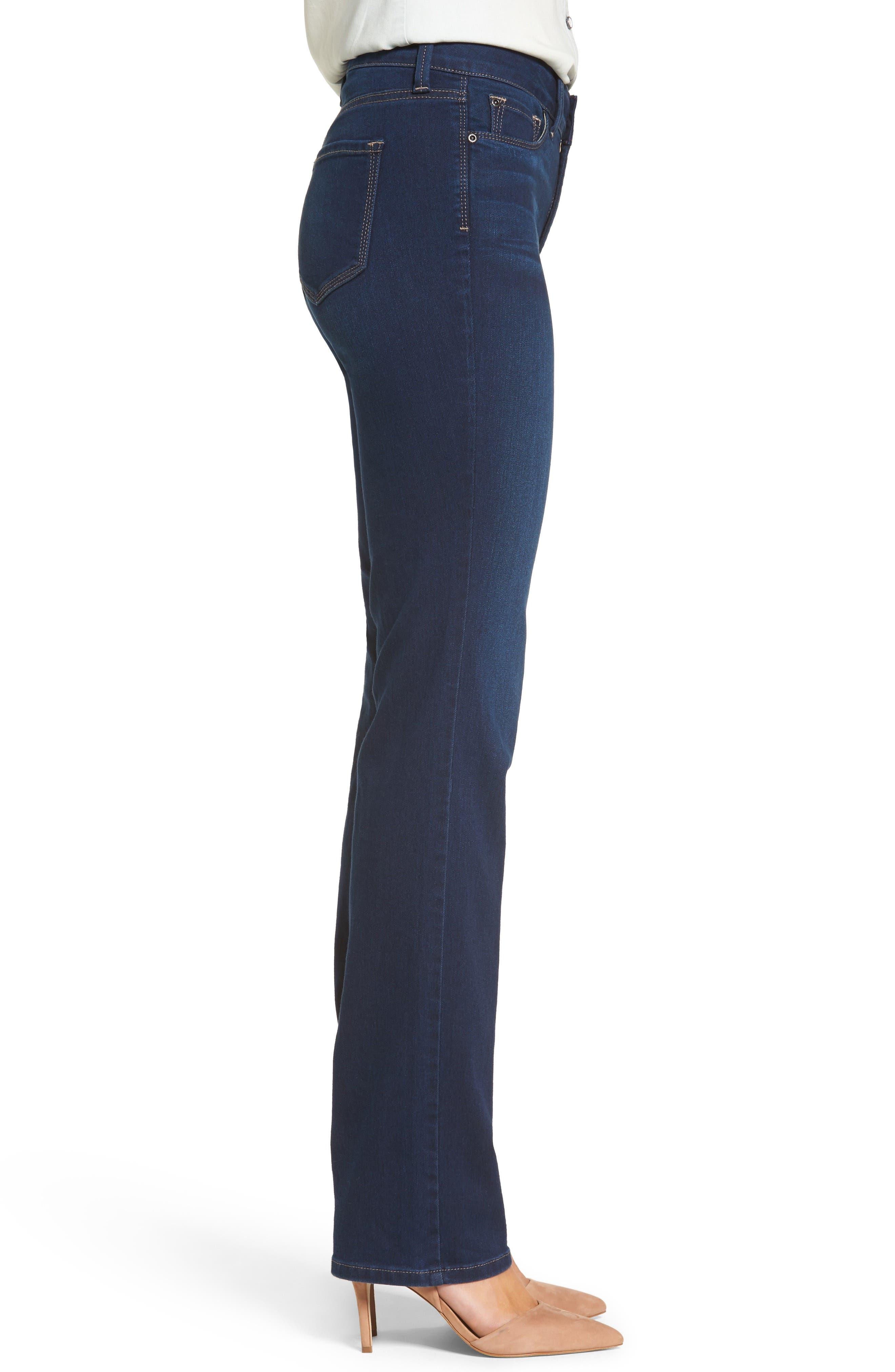 Marilyn Stretch Straight Leg Jeans,                             Alternate thumbnail 3, color,                             402