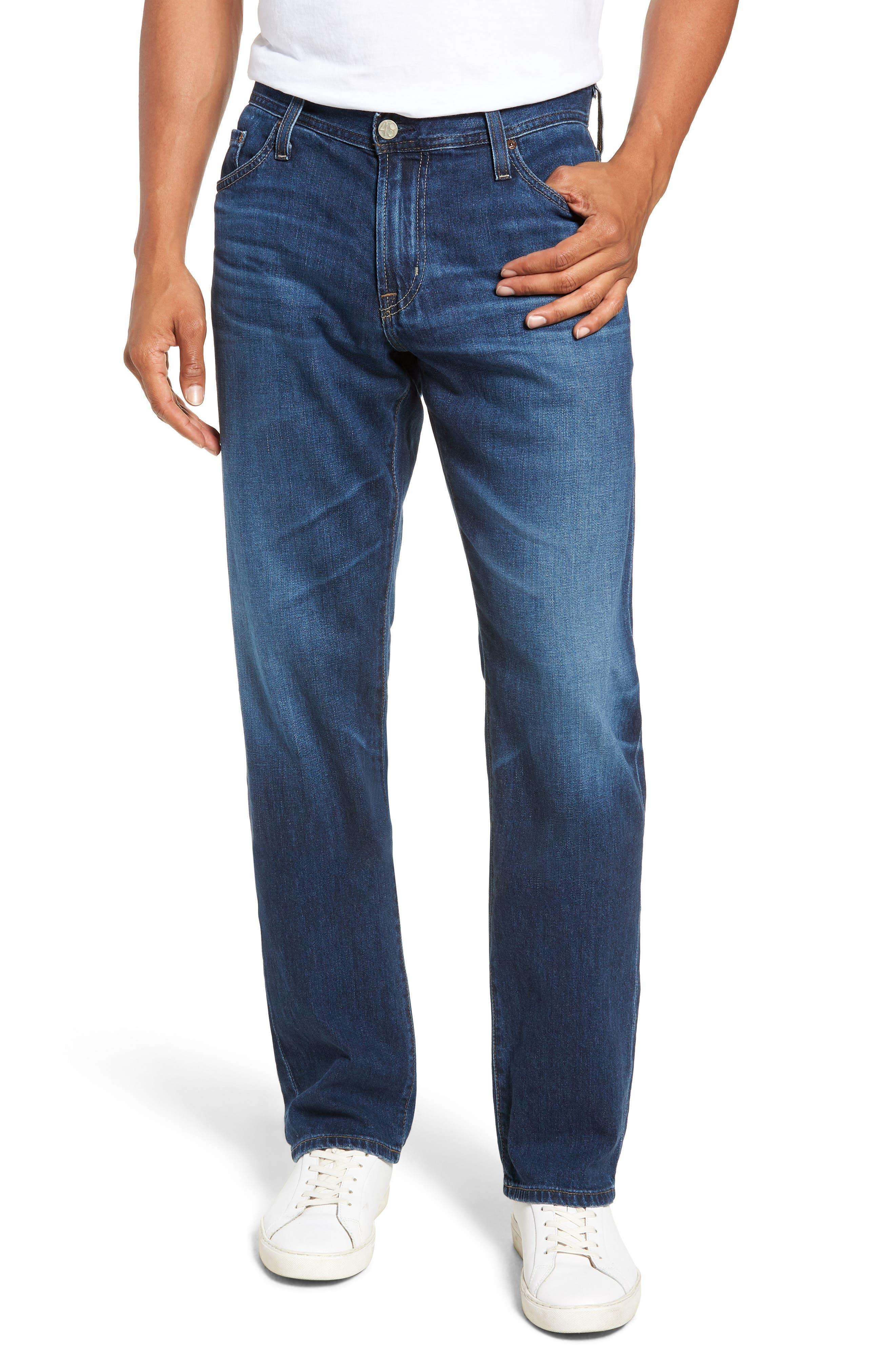 AG Graduate Slim Straight Leg Jeans, Main, color, 7 YEAR CEASE