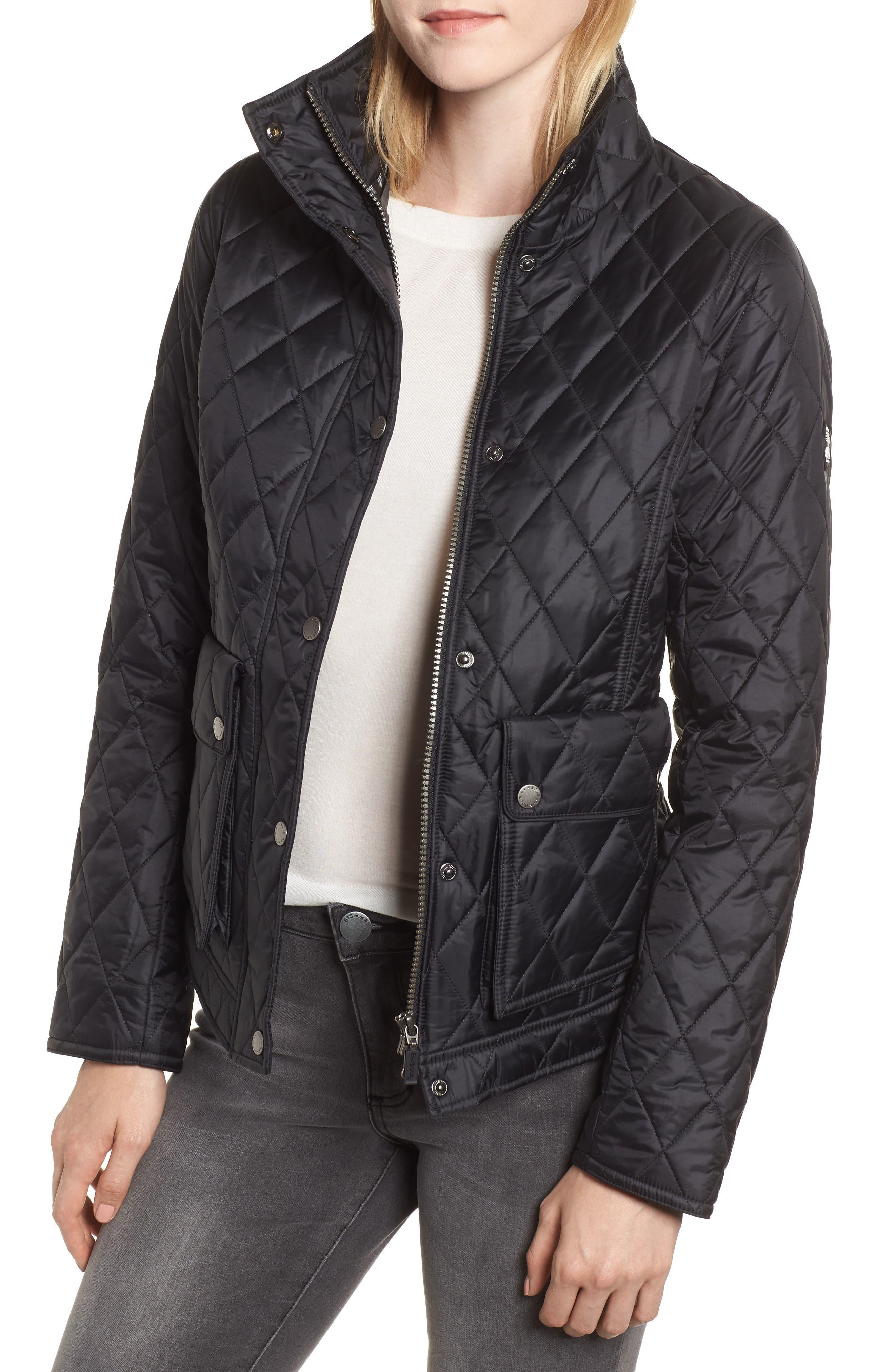 Barbour Cushat Quilted Jacket, US / 12 UK - Black