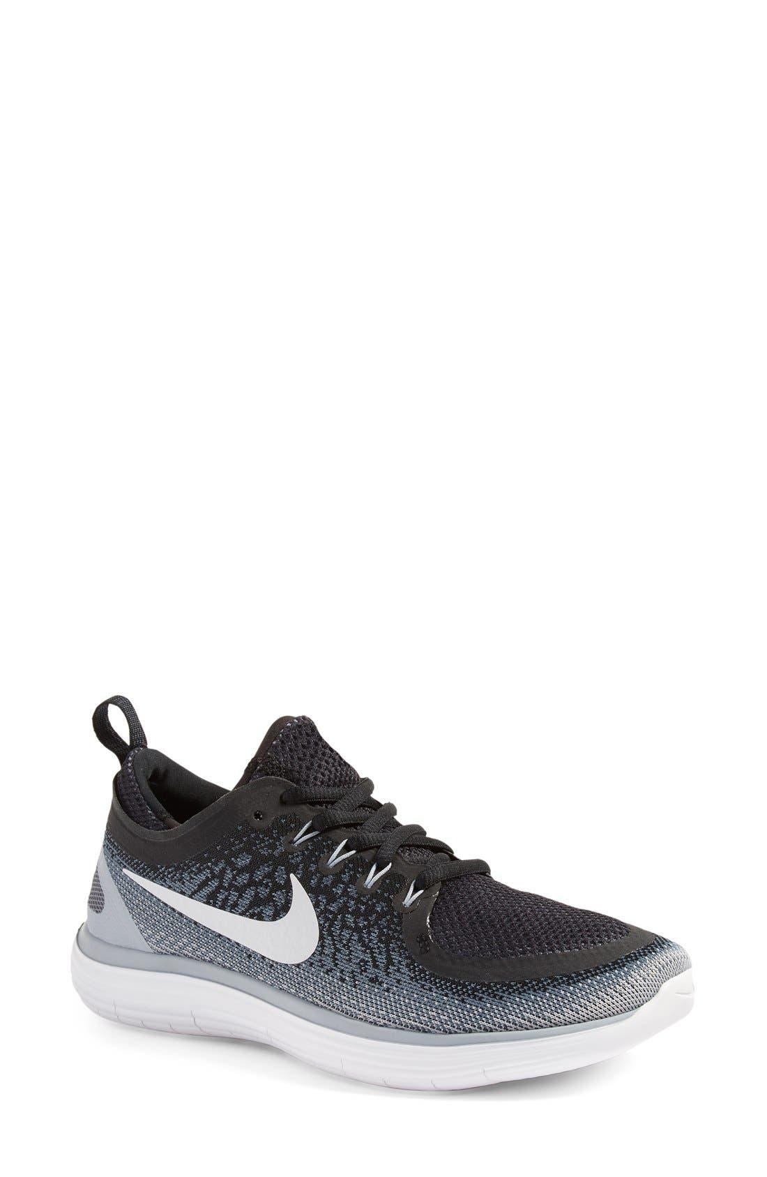 Free Run Distance 2 Running Shoe,                         Main,                         color, 001