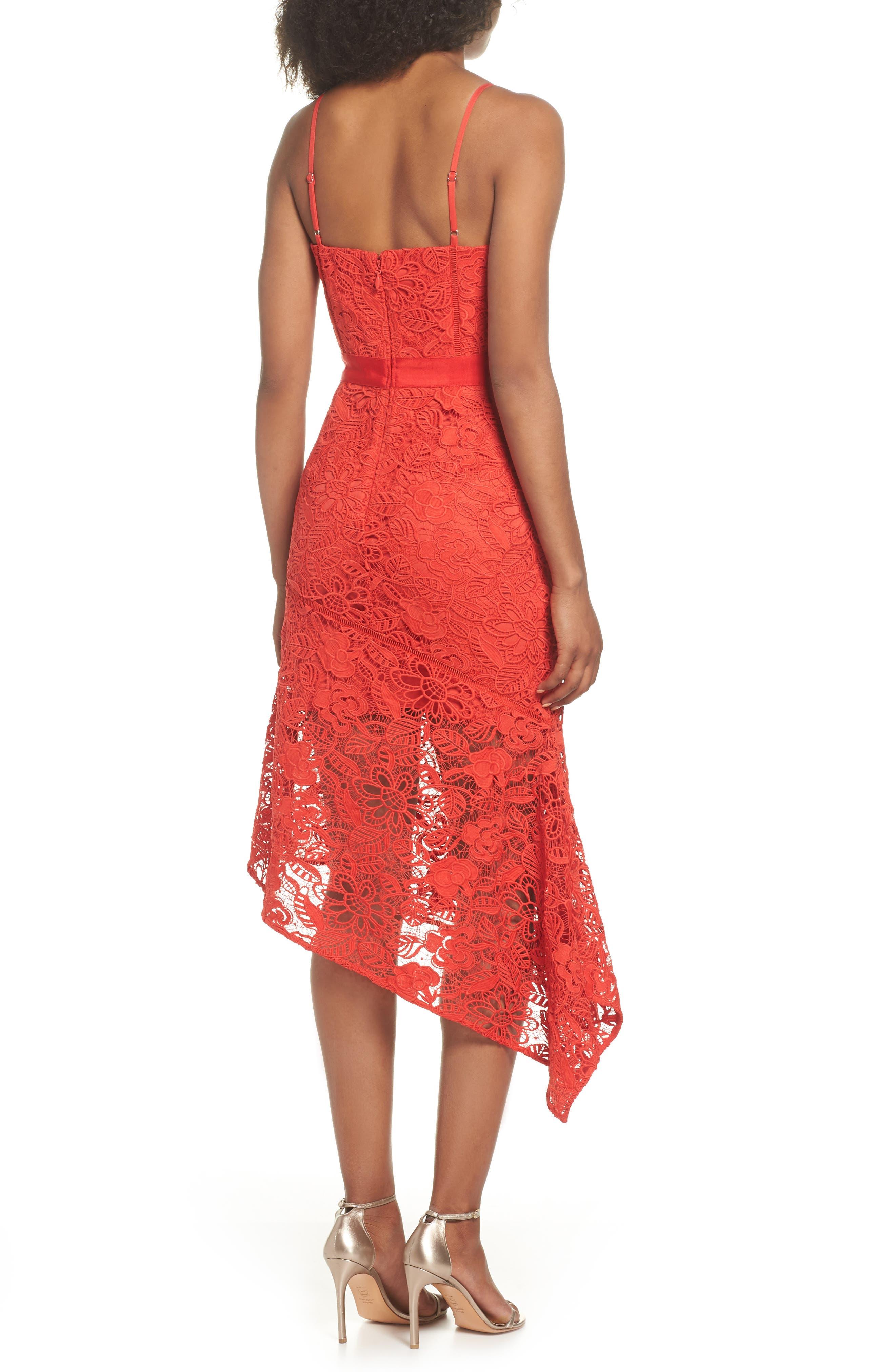 Asymmetrical Hem Lace Dress,                             Alternate thumbnail 2, color,                             600