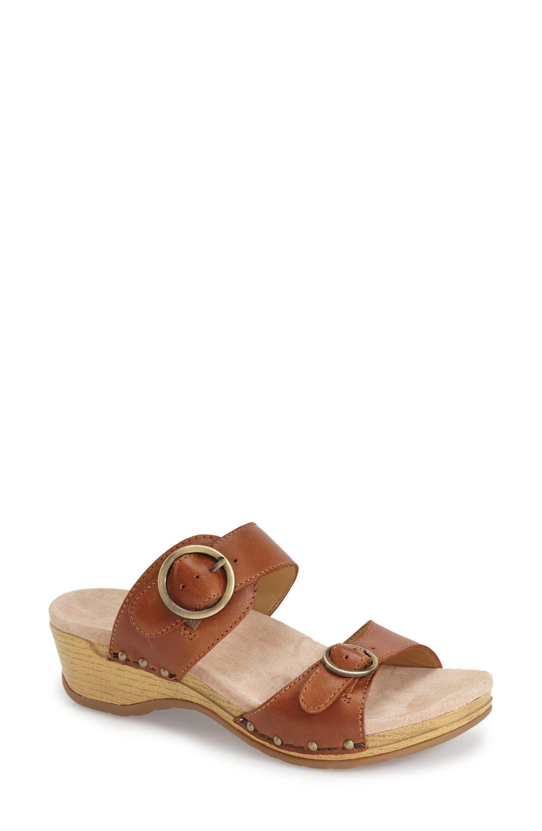 'Manda' Slide Sandal,                             Main thumbnail 1, color,                             205