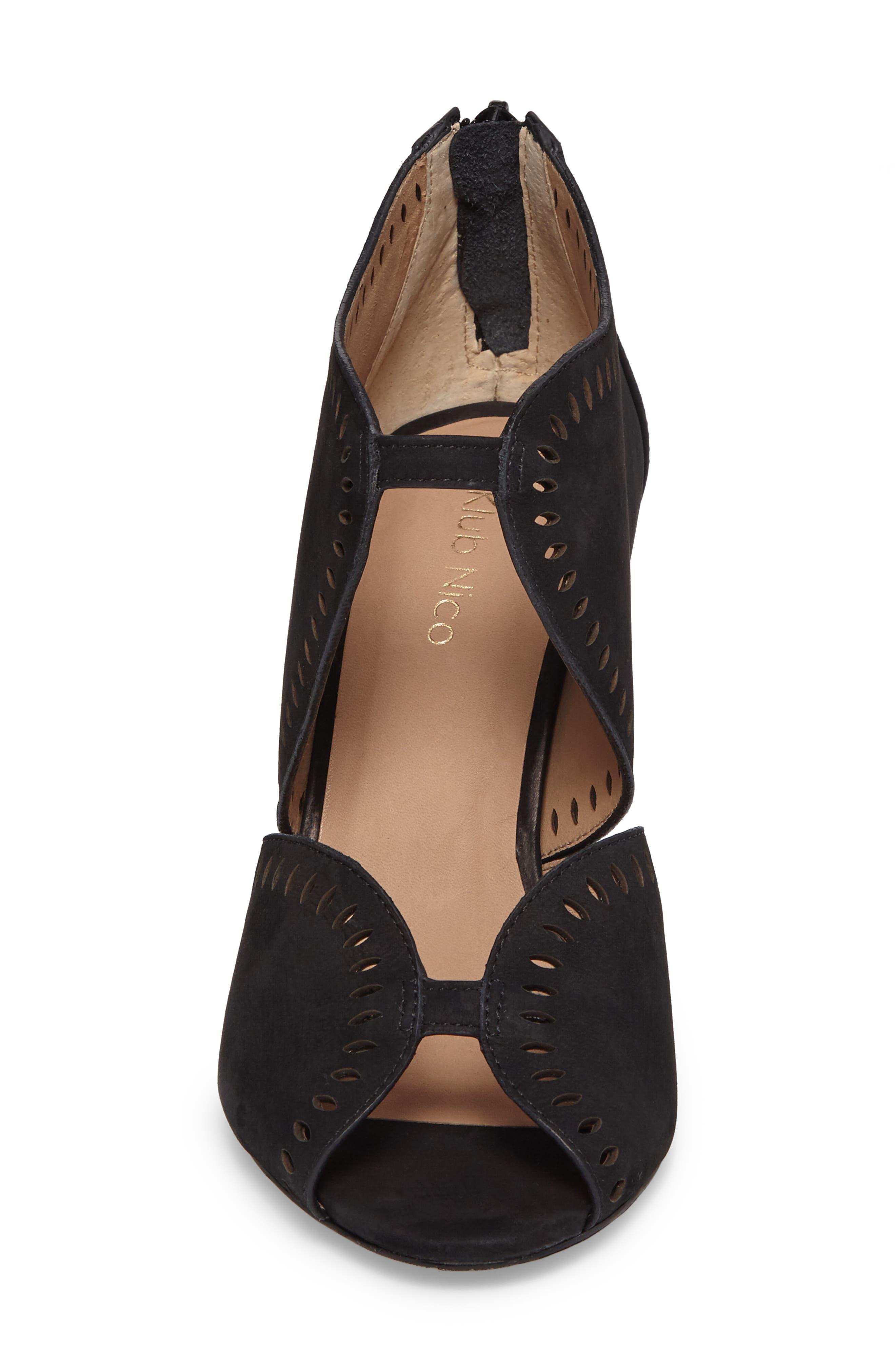 Mallia Perforated Sandal,                             Alternate thumbnail 4, color,                             001