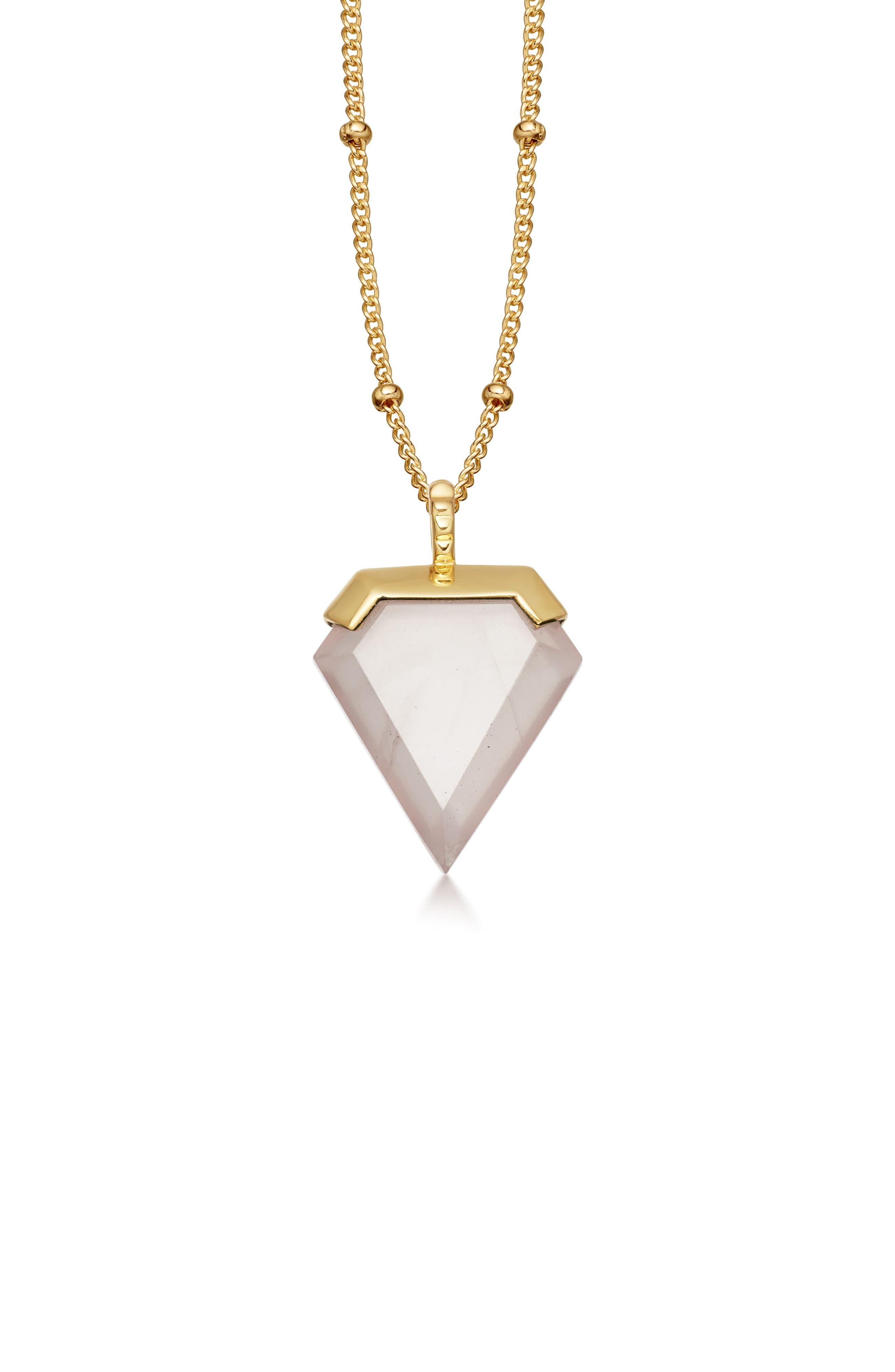 Shield Pendant Necklace,                         Main,                         color, 300