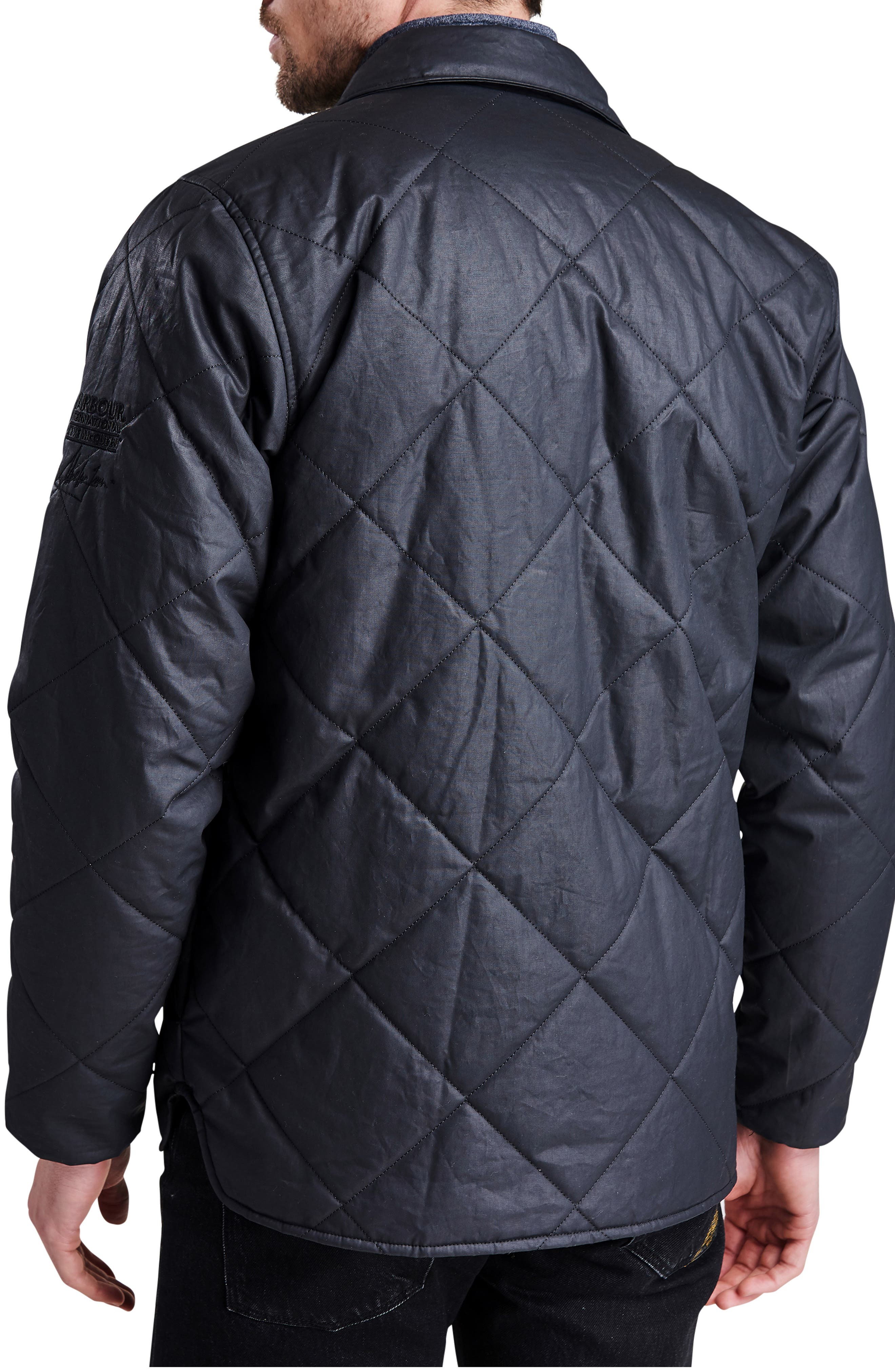 International Sonoran Quilted Shirt Jacket,                             Alternate thumbnail 2, color,                             BLACK