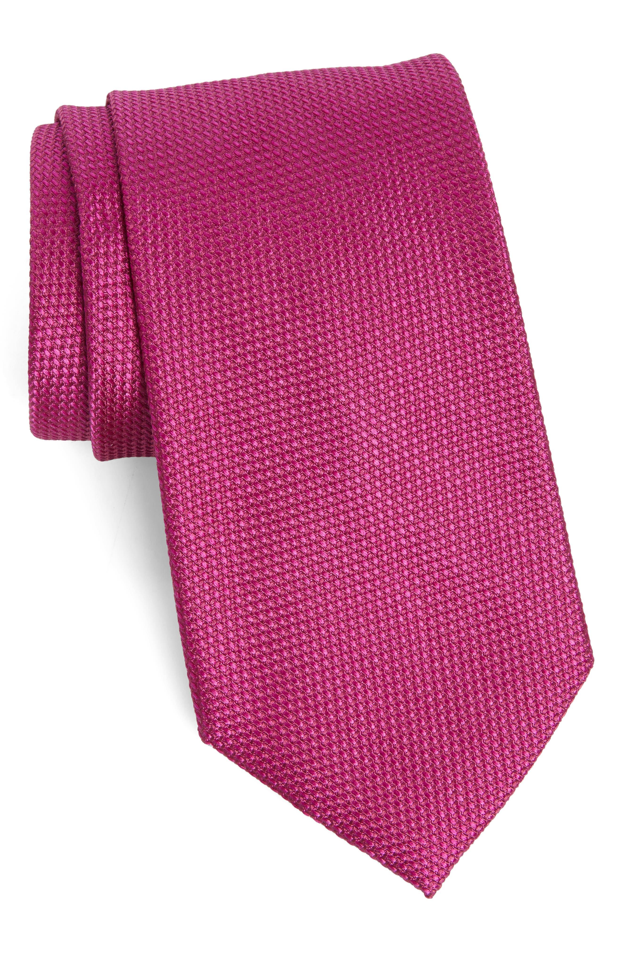 Solid Silk Tie,                         Main,                         color, 654