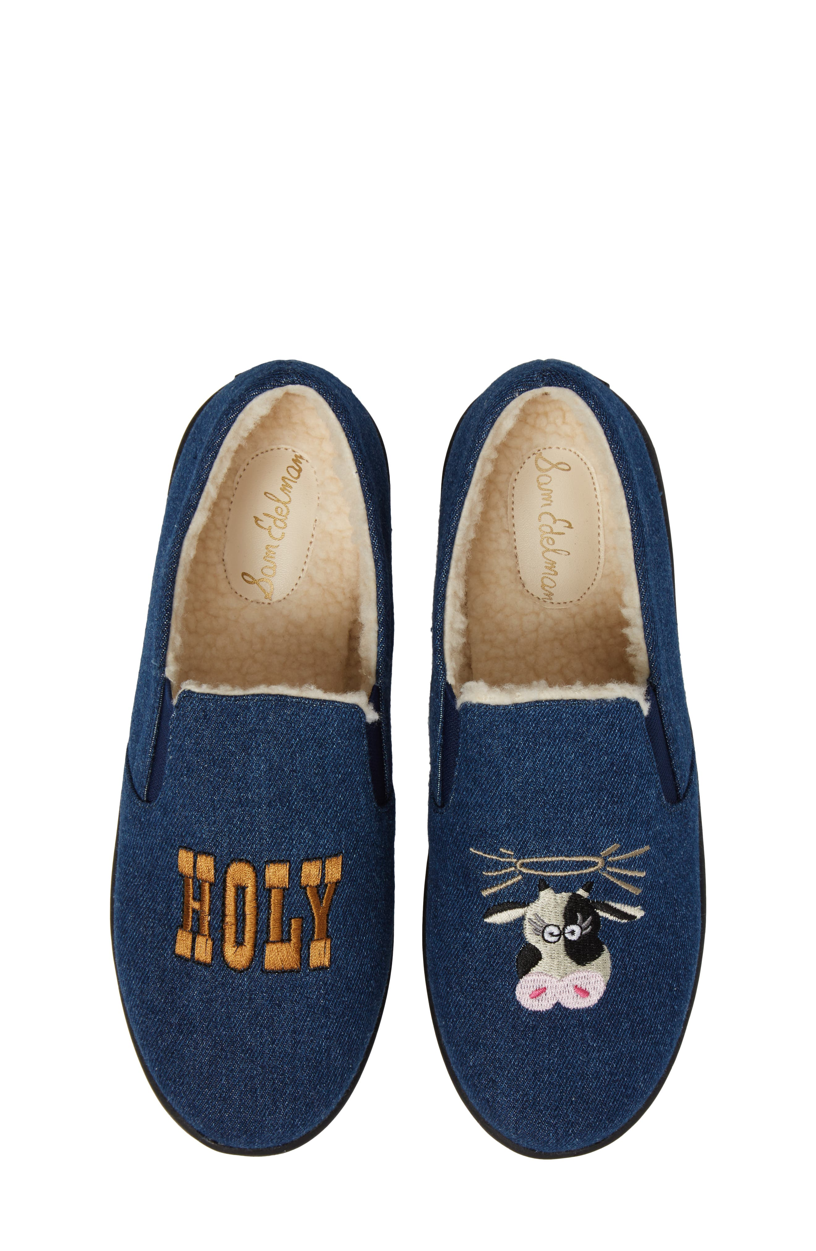 Cynthia Tala Holy Cow Embroidered Slippers,                             Alternate thumbnail 5, color,                             400