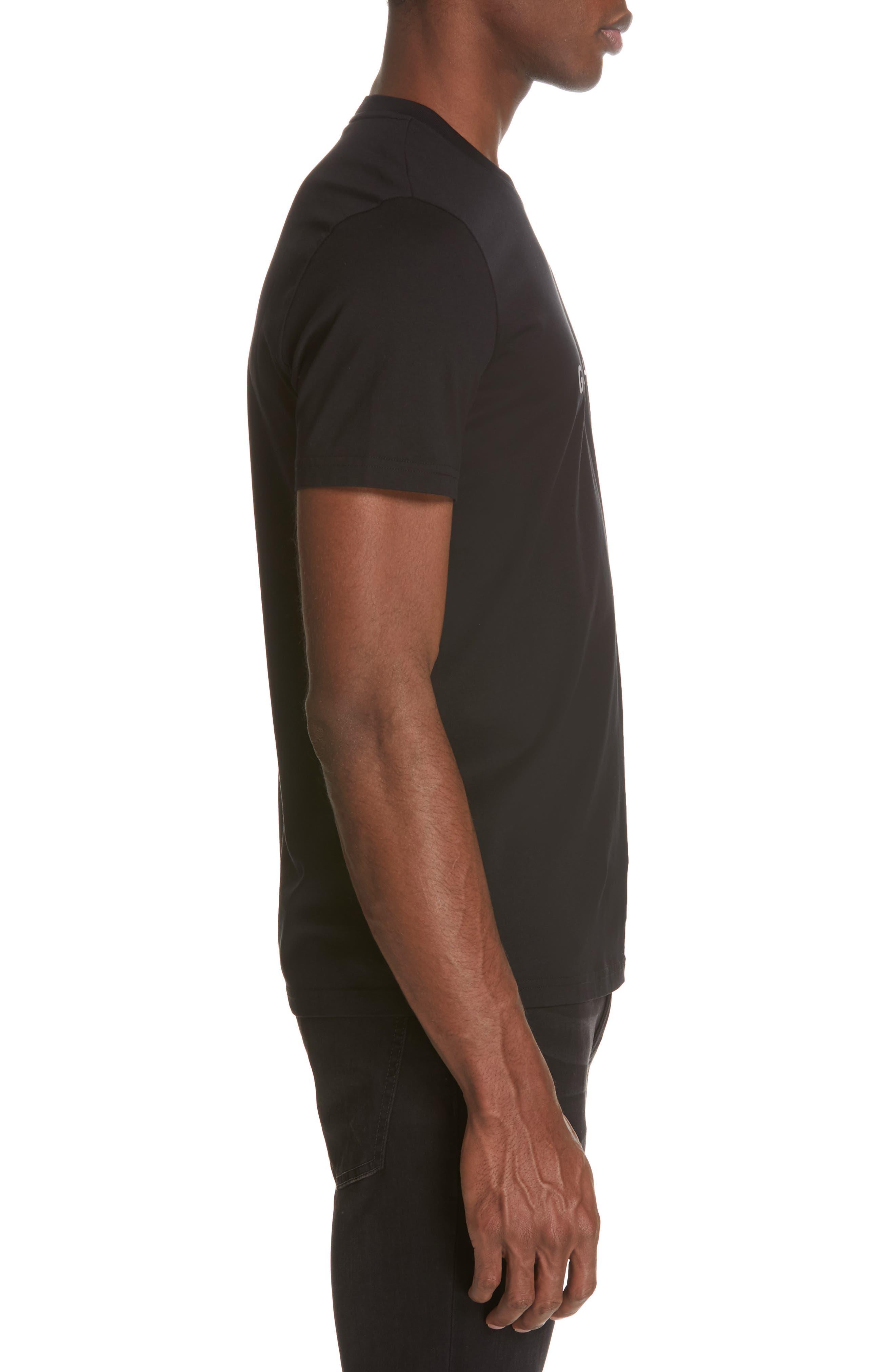 GIVENCHY,                             Vintage Logo T-Shirt,                             Alternate thumbnail 3, color,                             001