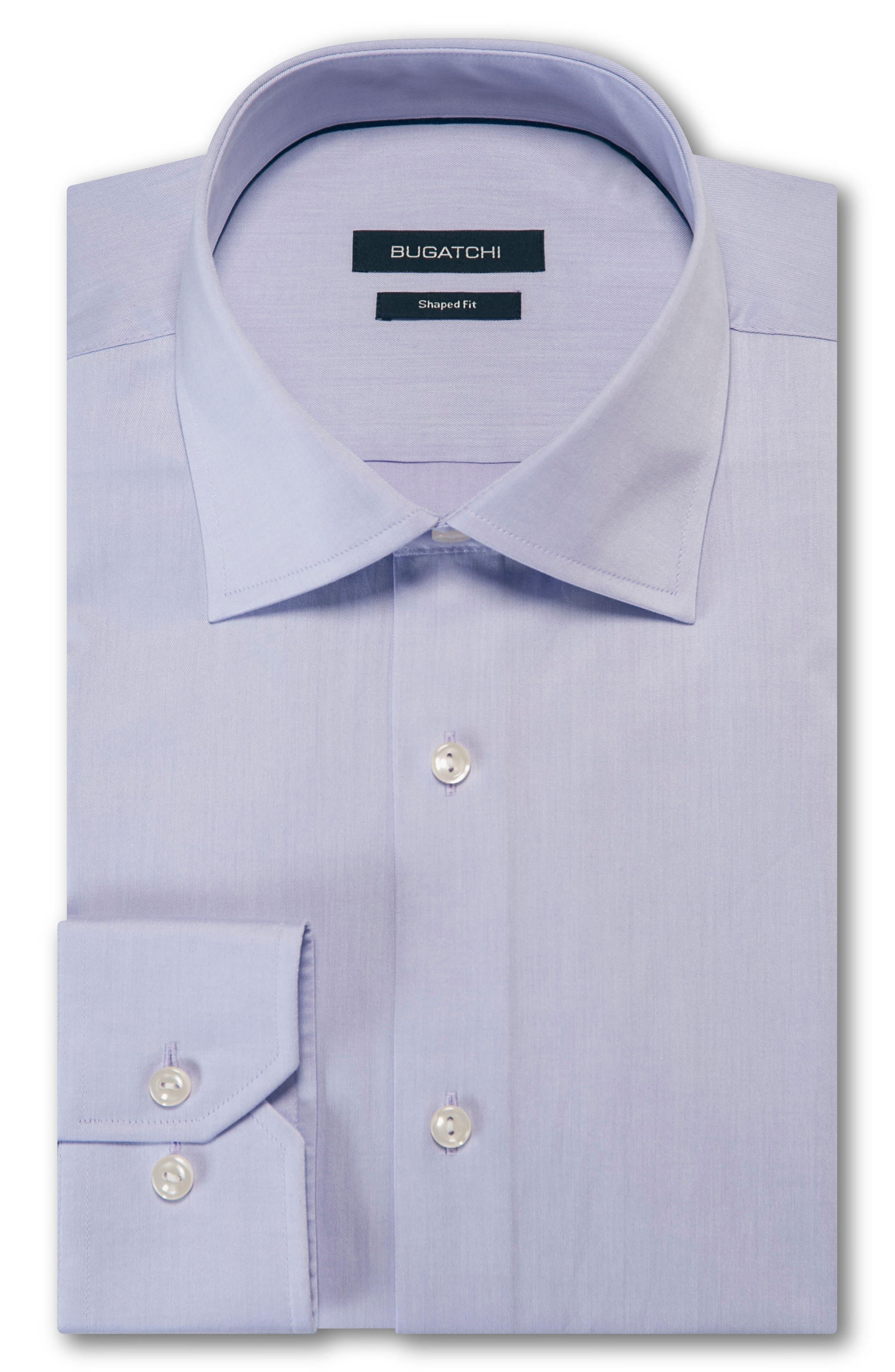 Trim Fit Solid Dress Shirt,                             Main thumbnail 1, color,                             LAVENDER