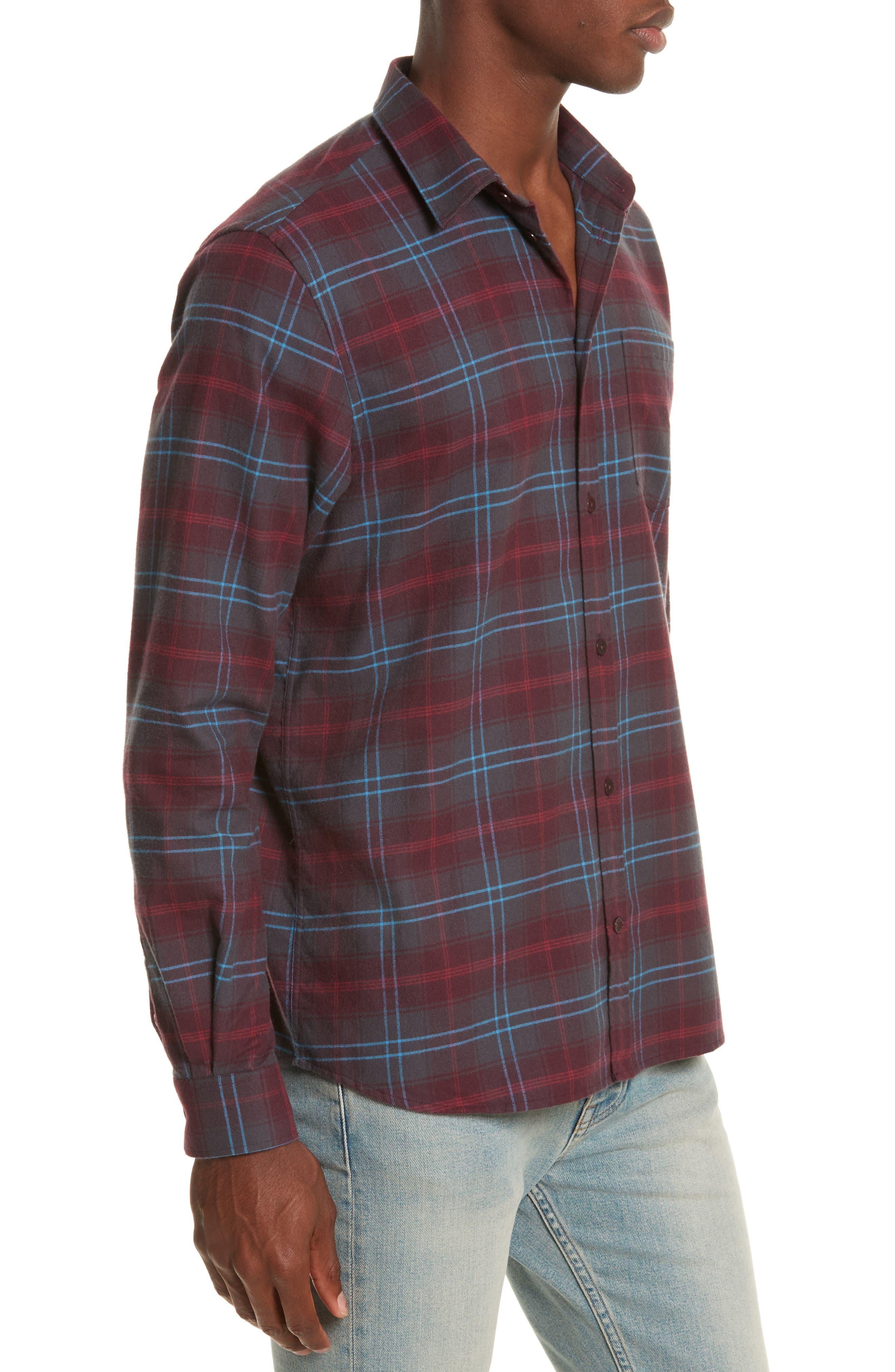 Hans Brushed Check Shirt,                             Alternate thumbnail 4, color,                             616