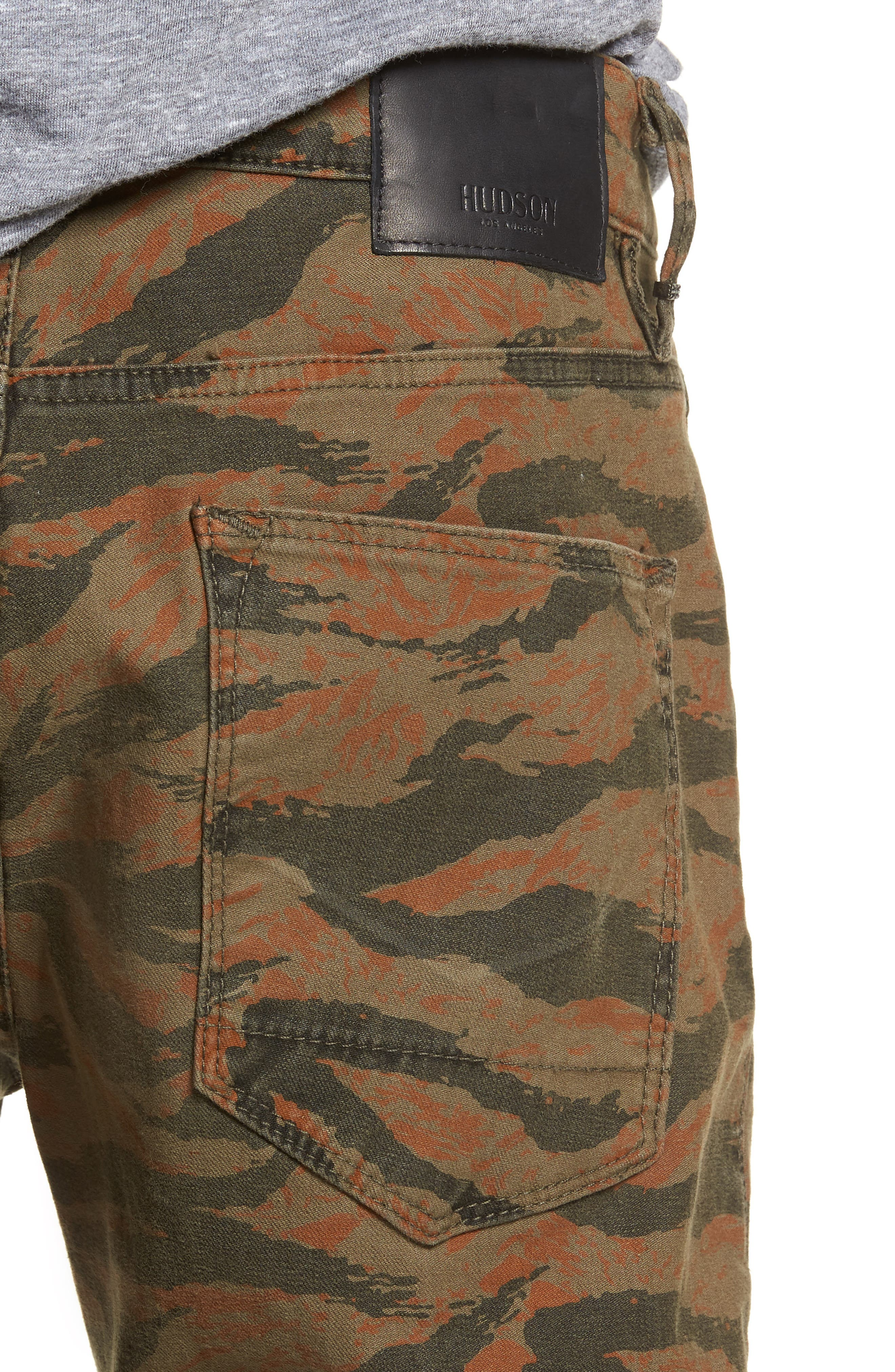 Axl Skinny Fit Jeans,                             Alternate thumbnail 4, color,                             TIGER CAMO