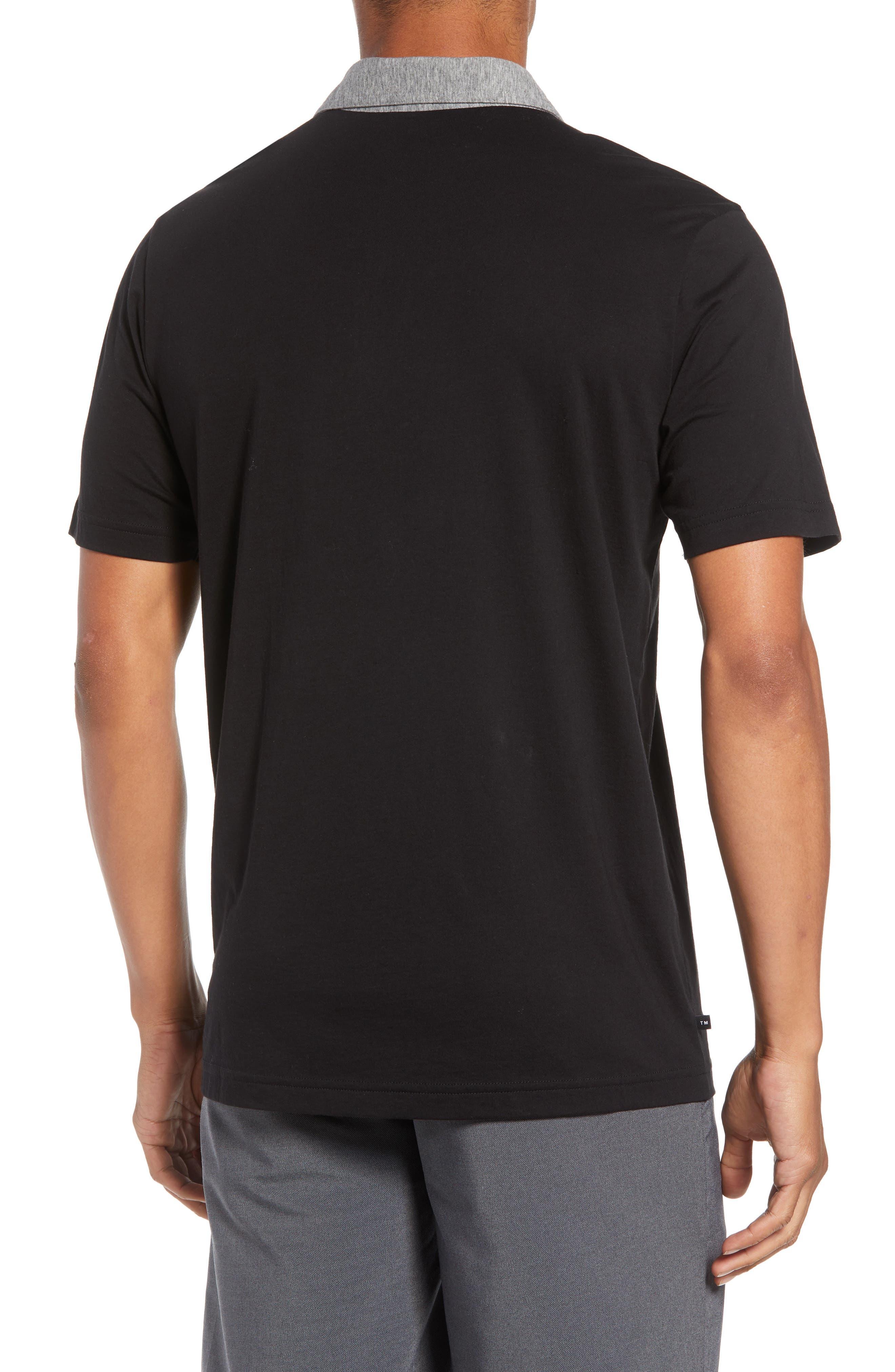 Rupert Short Sleeve Regular Fit Polo Shirt,                             Alternate thumbnail 2, color,                             BLACK