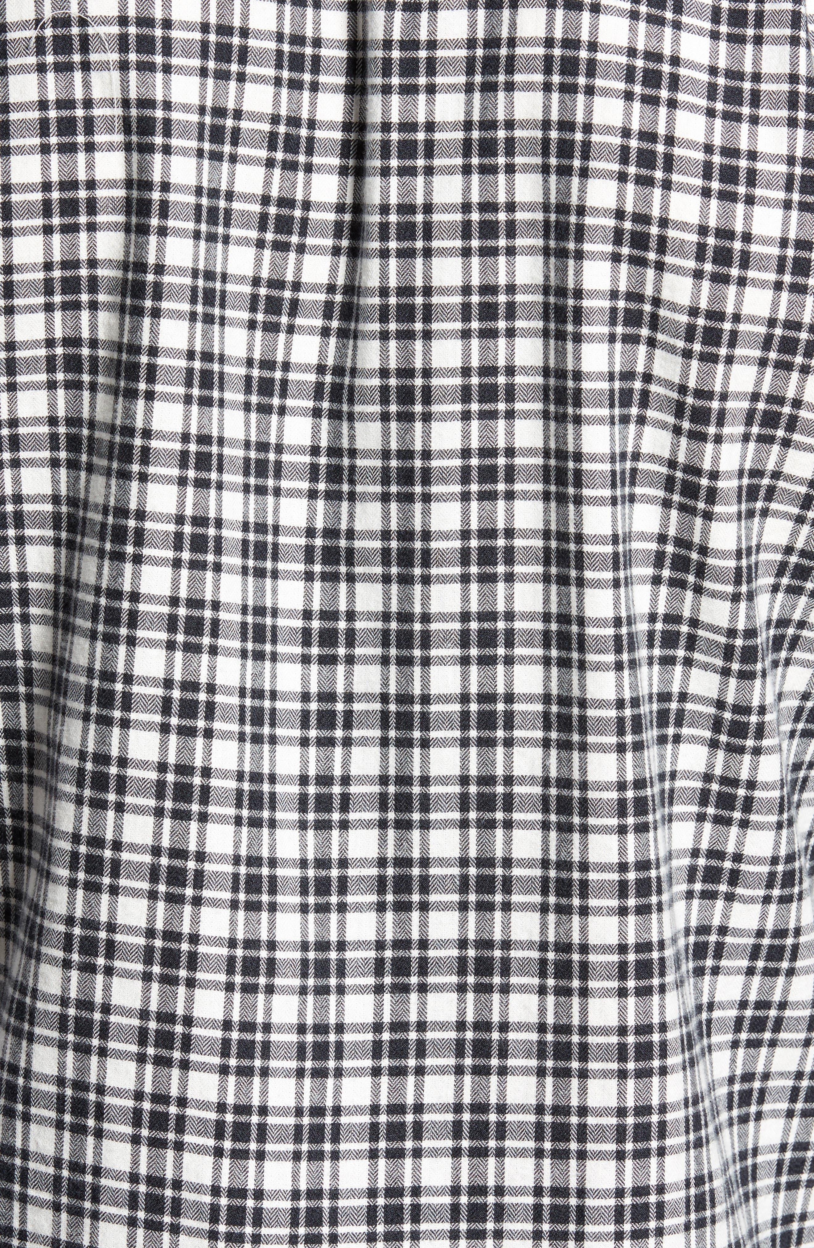 Hayes Plaid Flannel Sport Shirt,                             Alternate thumbnail 5, color,
