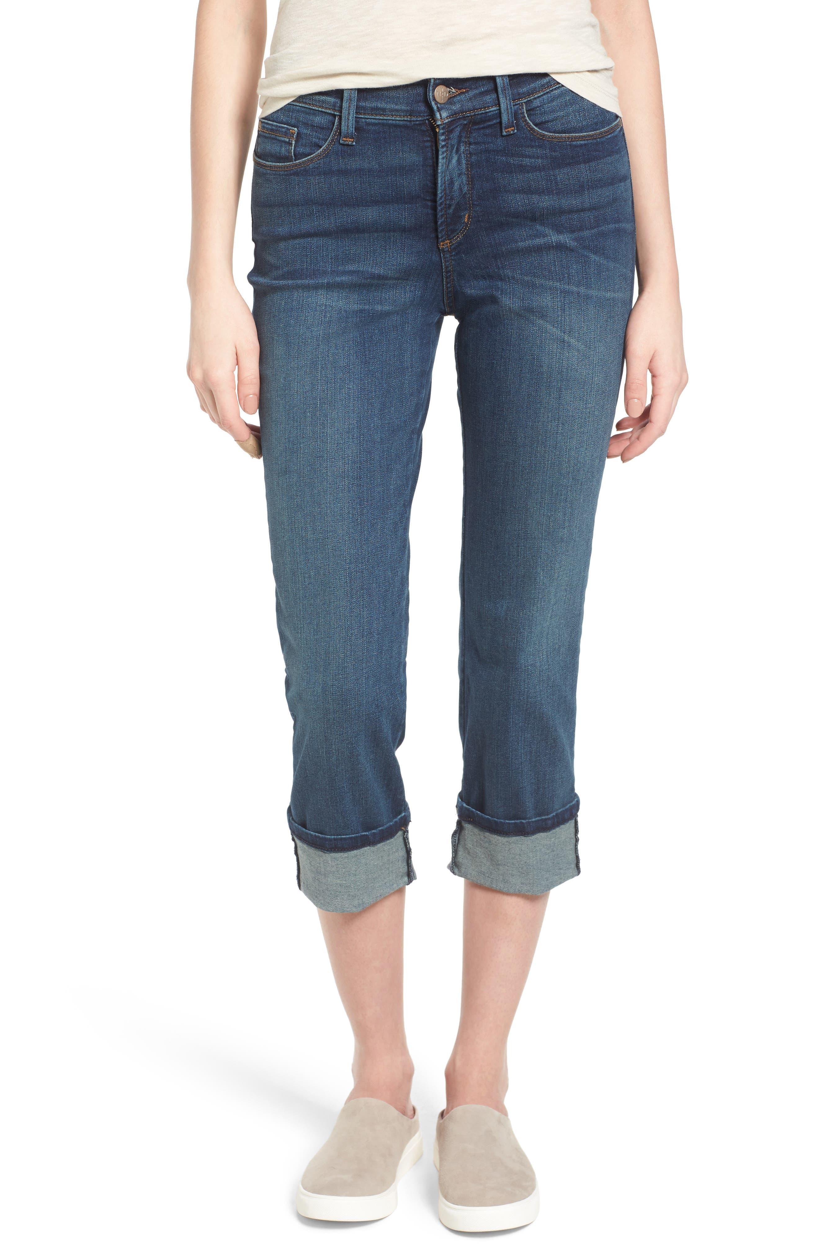 'Dayla' Colored Wide Cuff Capri Jeans,                             Main thumbnail 11, color,
