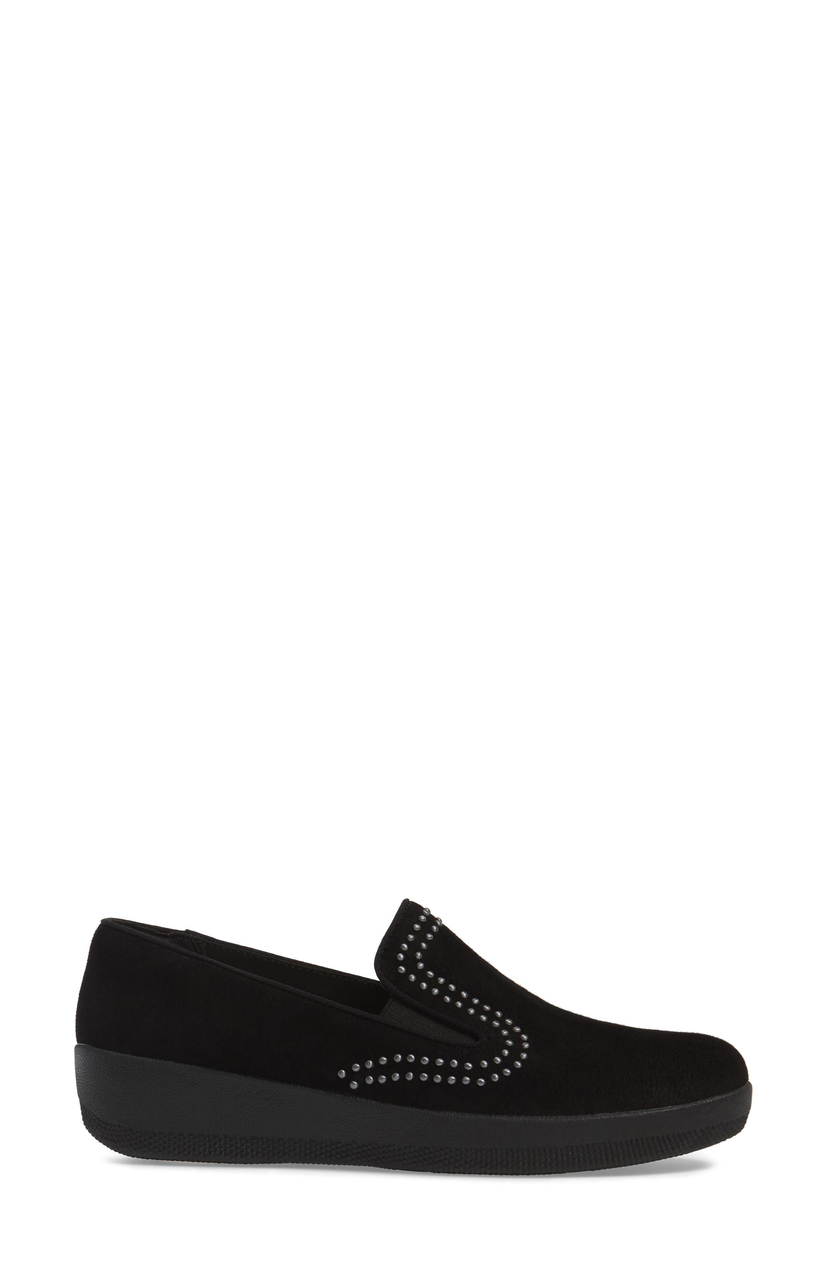 Superskate Studded Wedge Loafer,                             Alternate thumbnail 6, color,