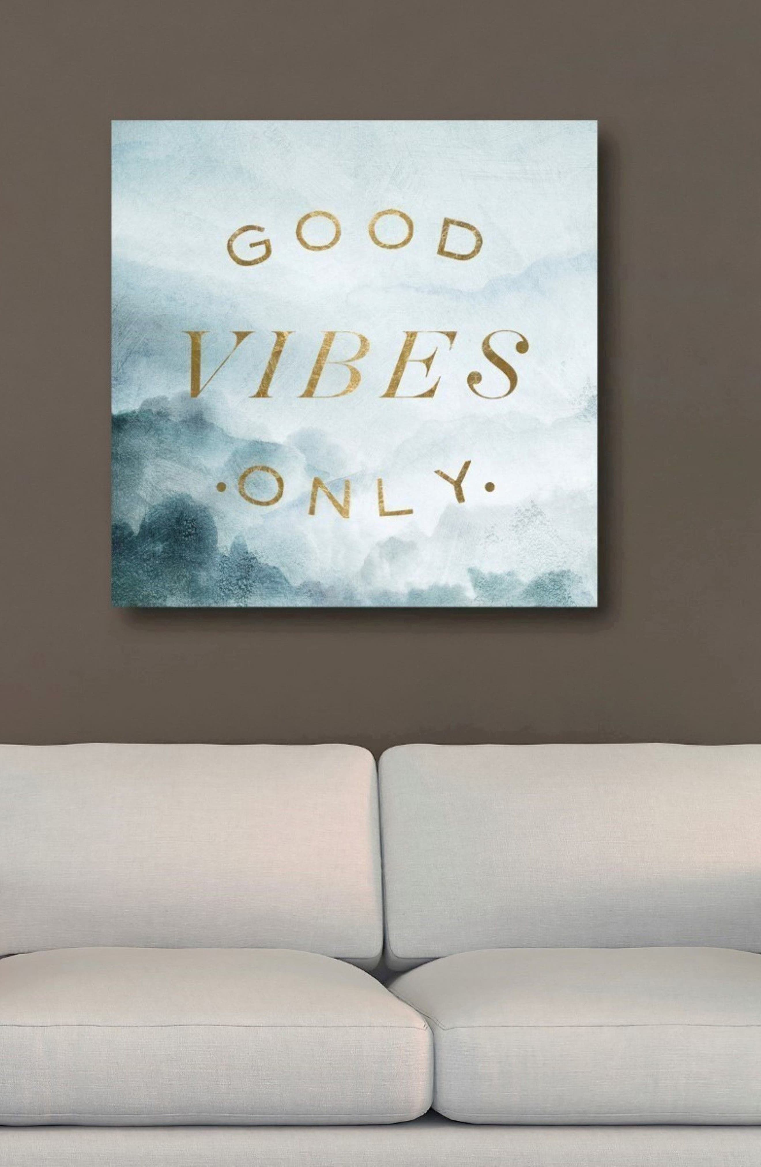 Good Vibes Only Canvas Wall Art,                             Alternate thumbnail 2, color,                             400