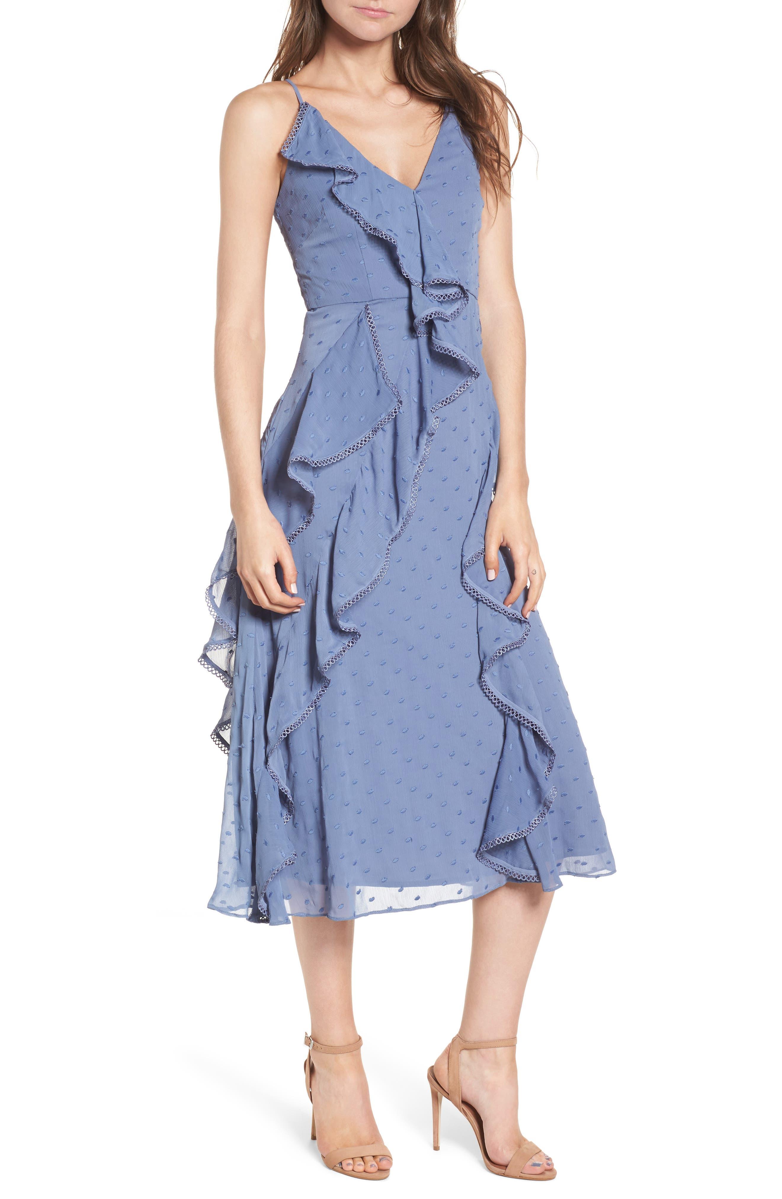 Hideaway Midi Dress,                         Main,                         color, 400