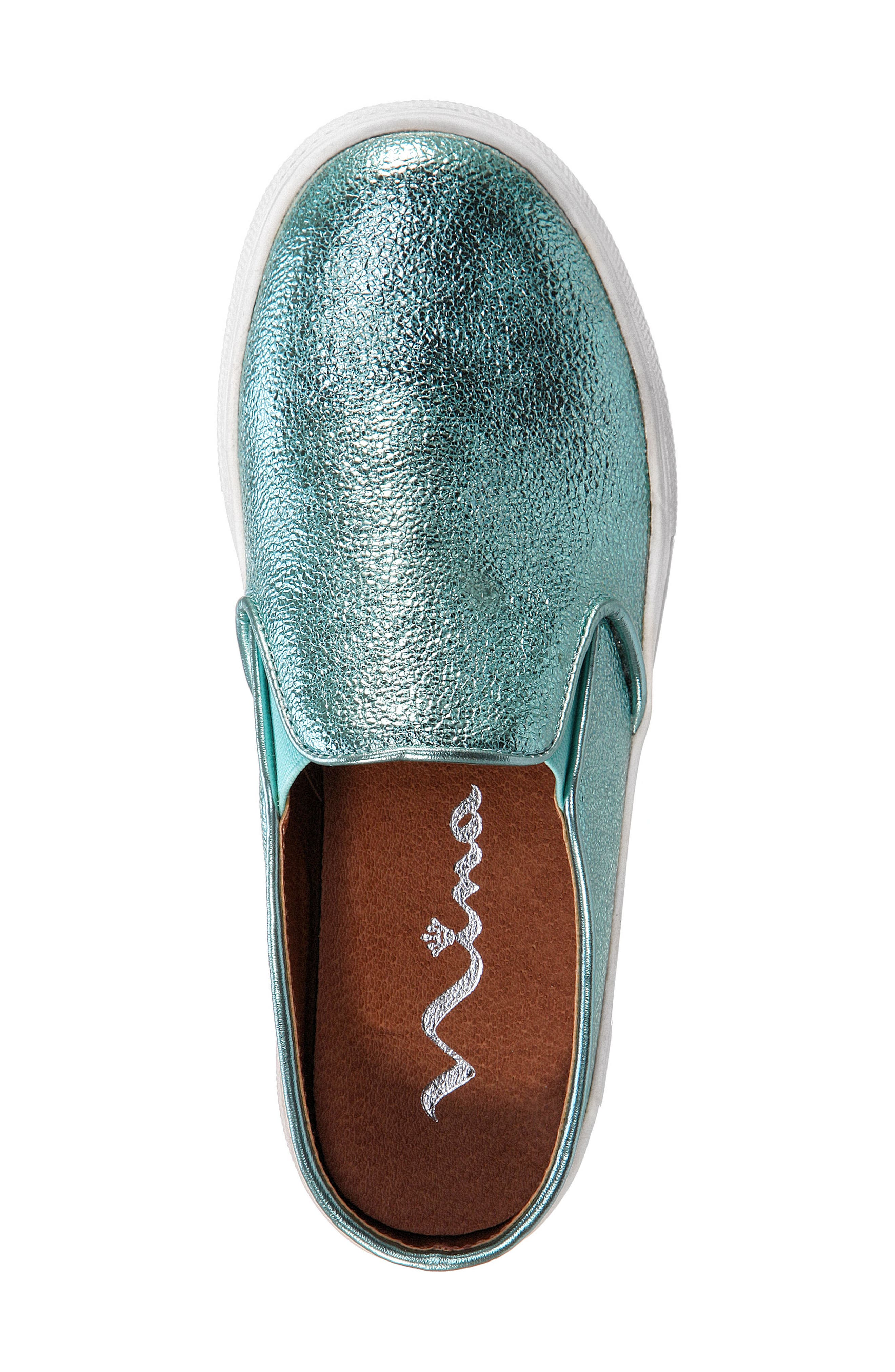 Gail Metallic Slip-On Sneaker Mule,                             Alternate thumbnail 14, color,