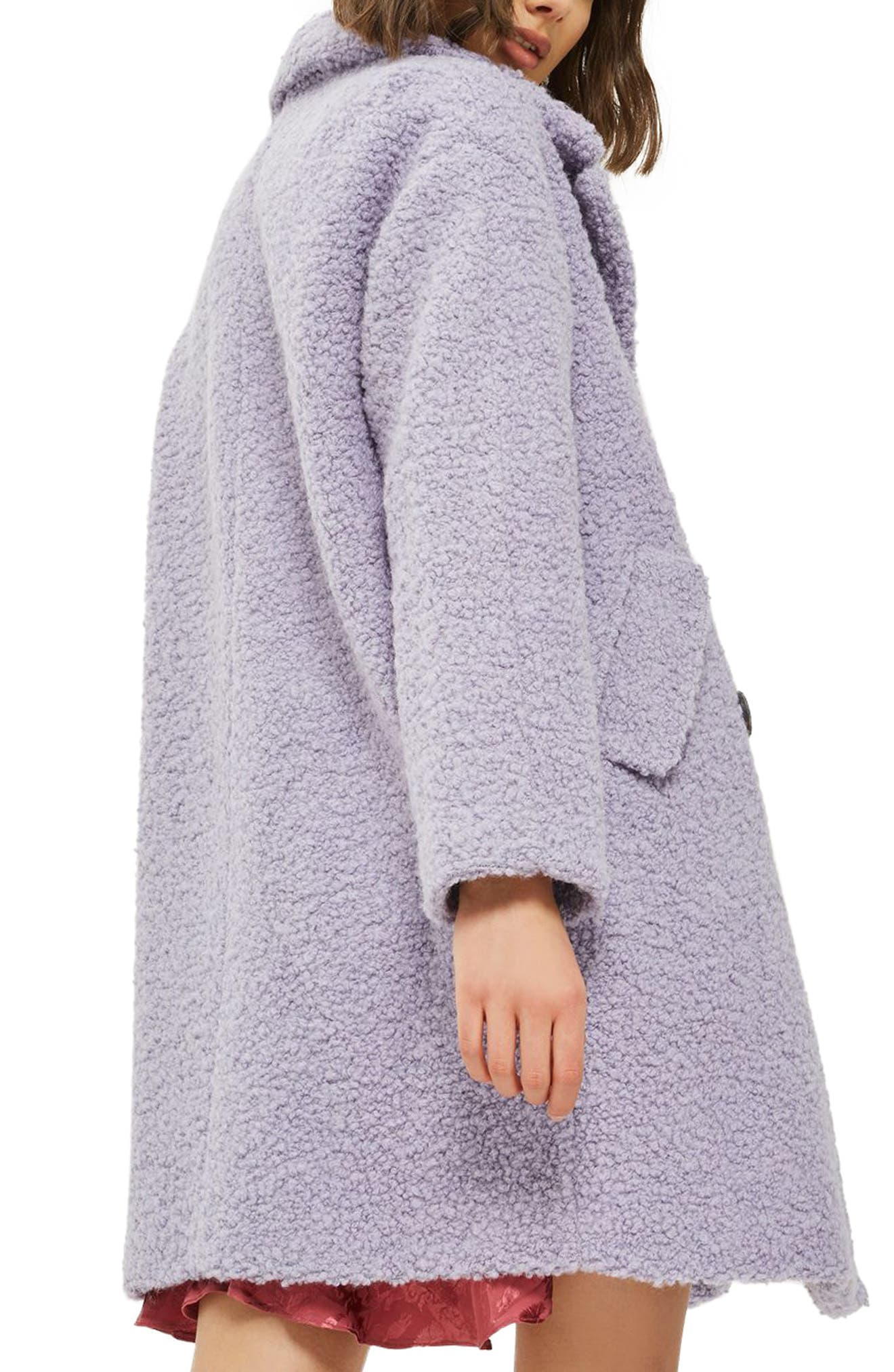 Alicia Bouclé Slouch Coat,                             Alternate thumbnail 2, color,                             050