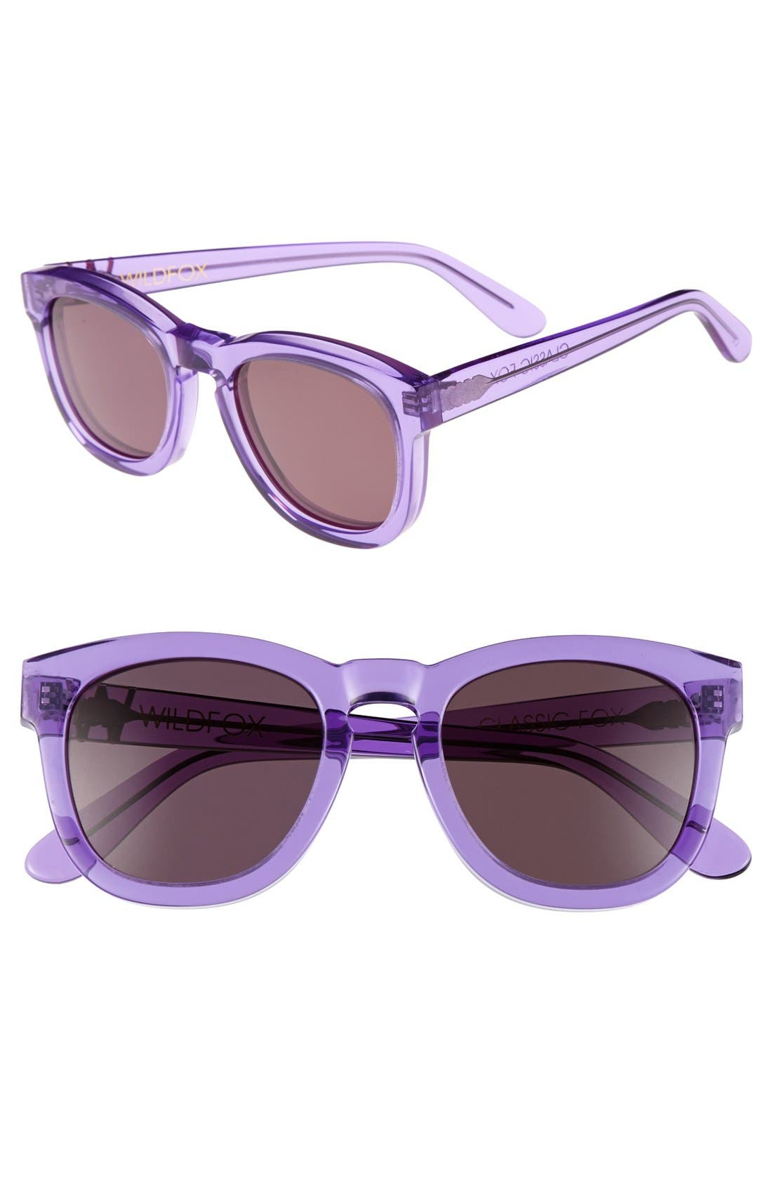 'Classic Fox' 50mm Retro Sunglasses,                             Main thumbnail 16, color,