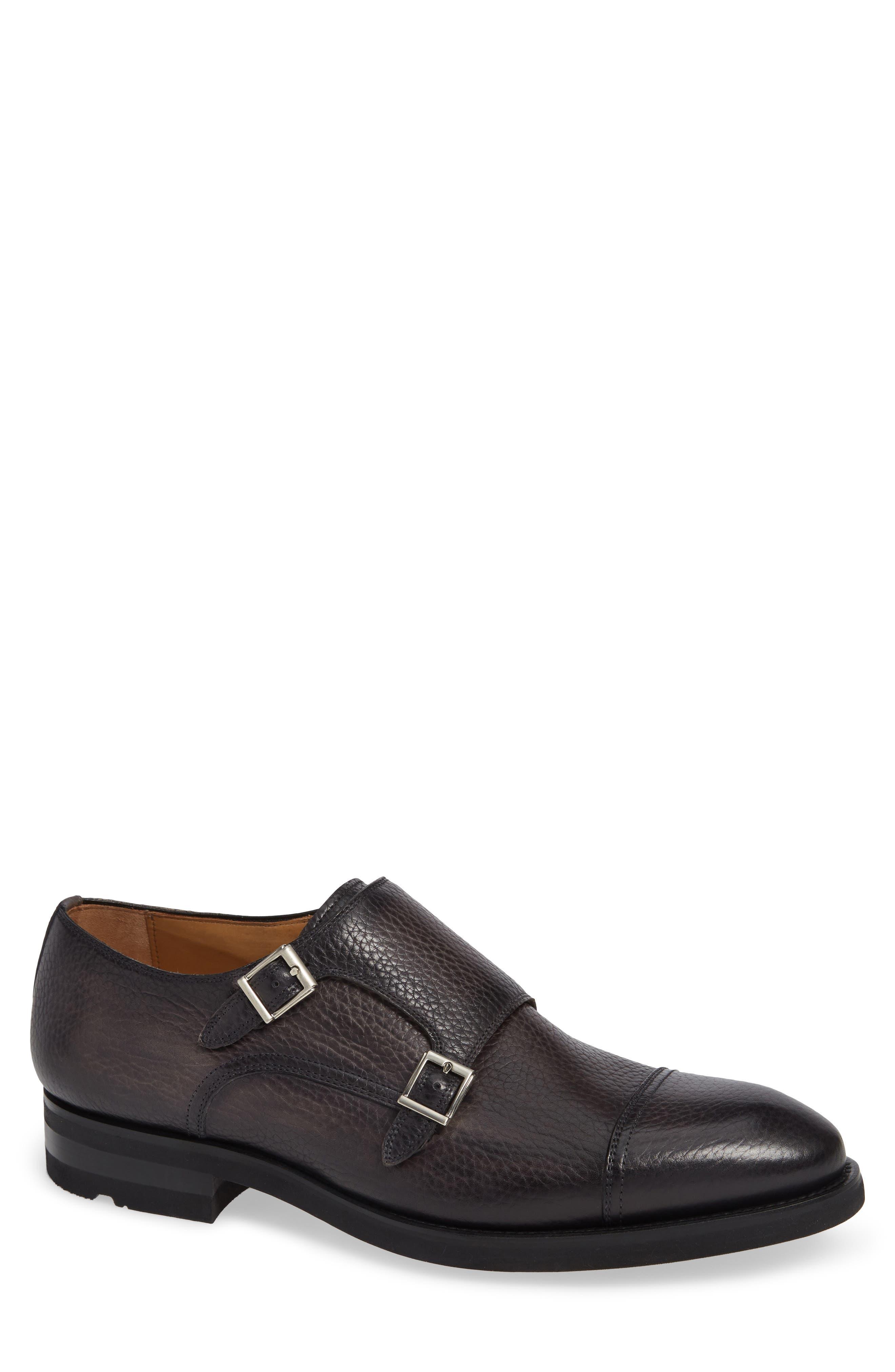 Jebor Double Monk Strap Shoe,                         Main,                         color, GREY