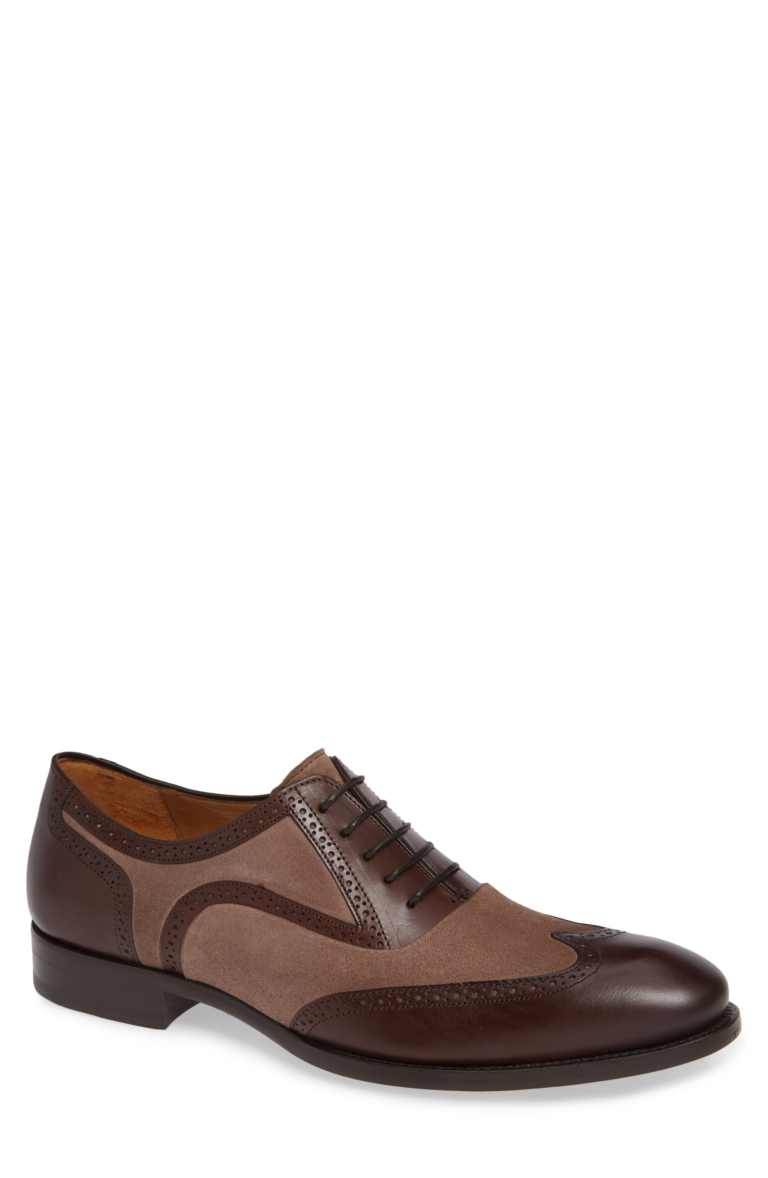 Mezlan Cantone Wing Tip Lace-Up Oxford- Brown