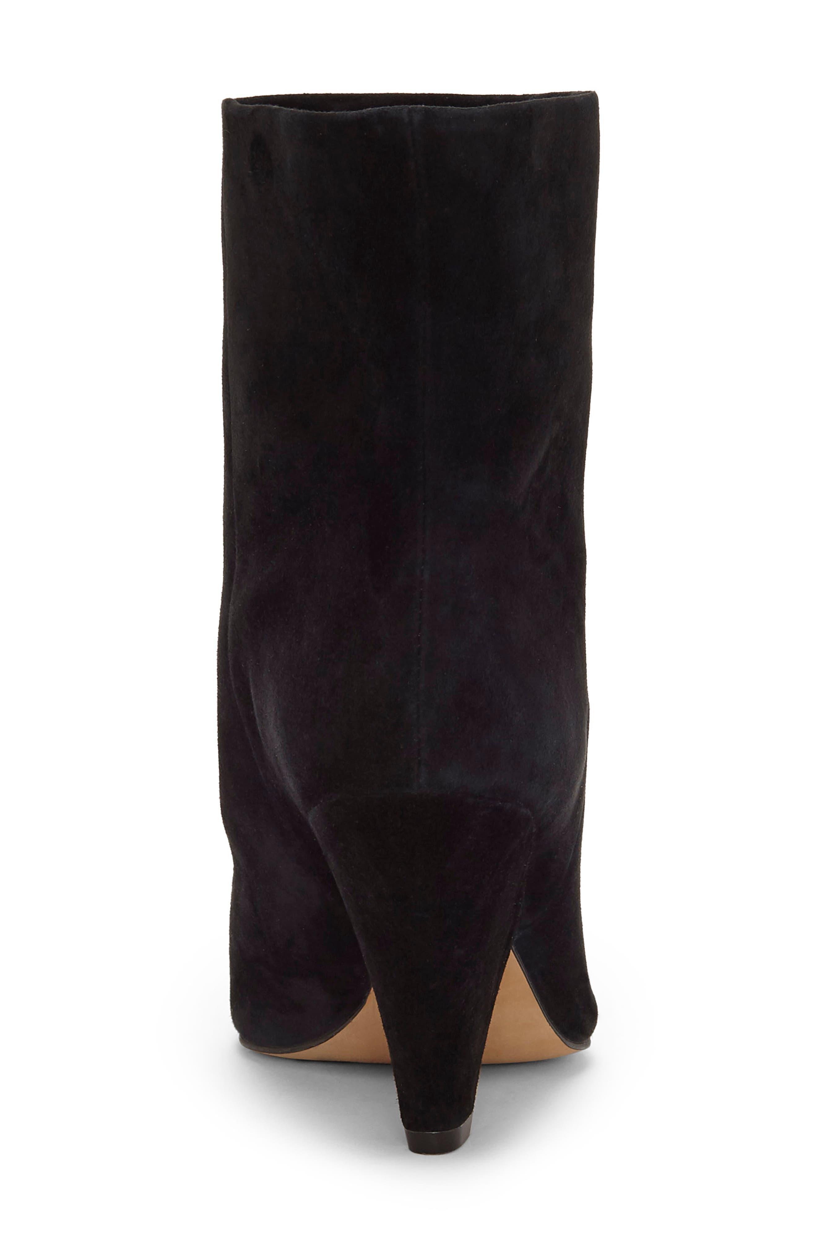 Regina Cone Heel Bootie,                             Alternate thumbnail 7, color,                             BLACK SUEDE