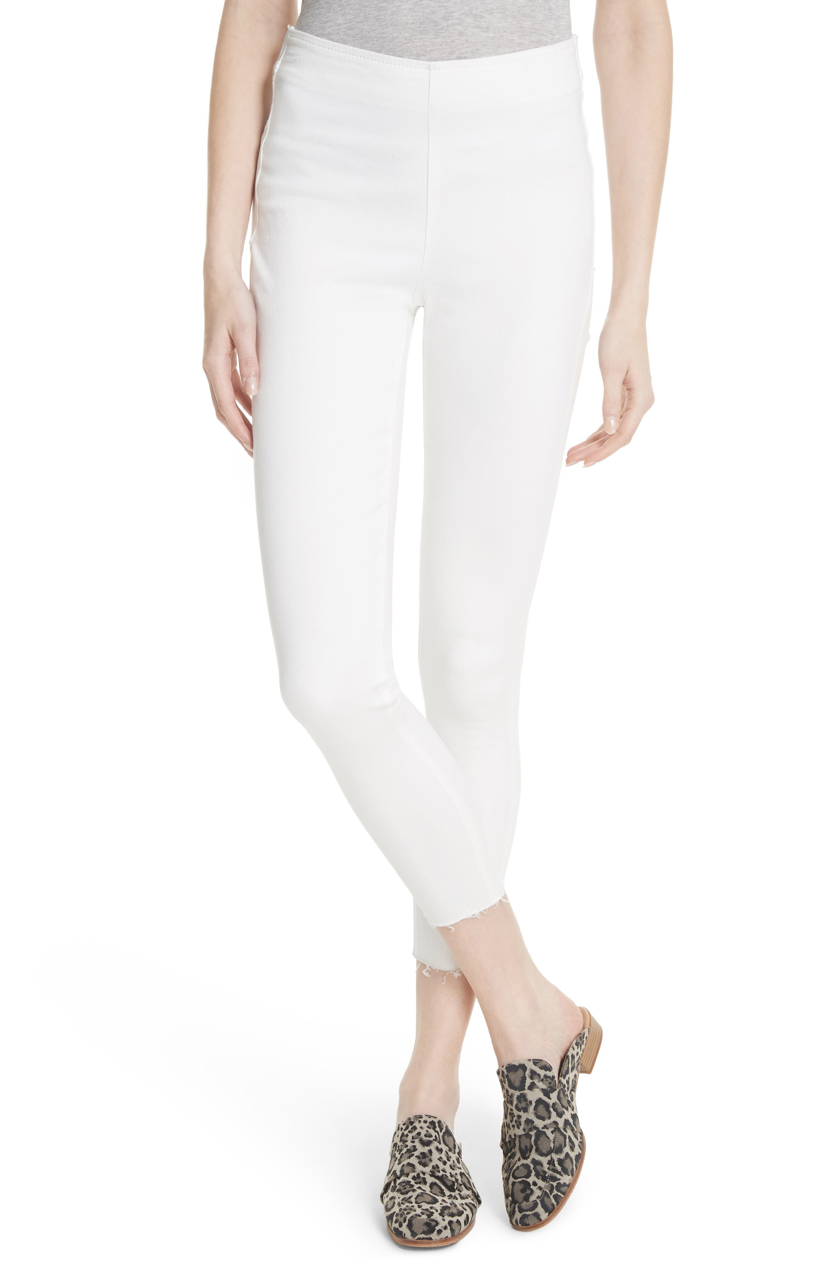We the Free by Free People Easy Goes It Denim Leggings,                             Main thumbnail 1, color,                             WHITE