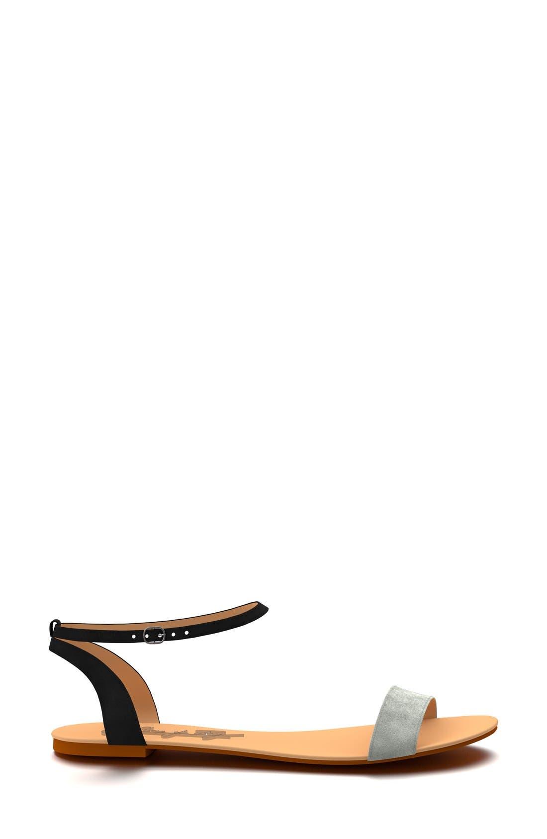 Ankle Strap Sandal,                             Alternate thumbnail 4, color,                             001