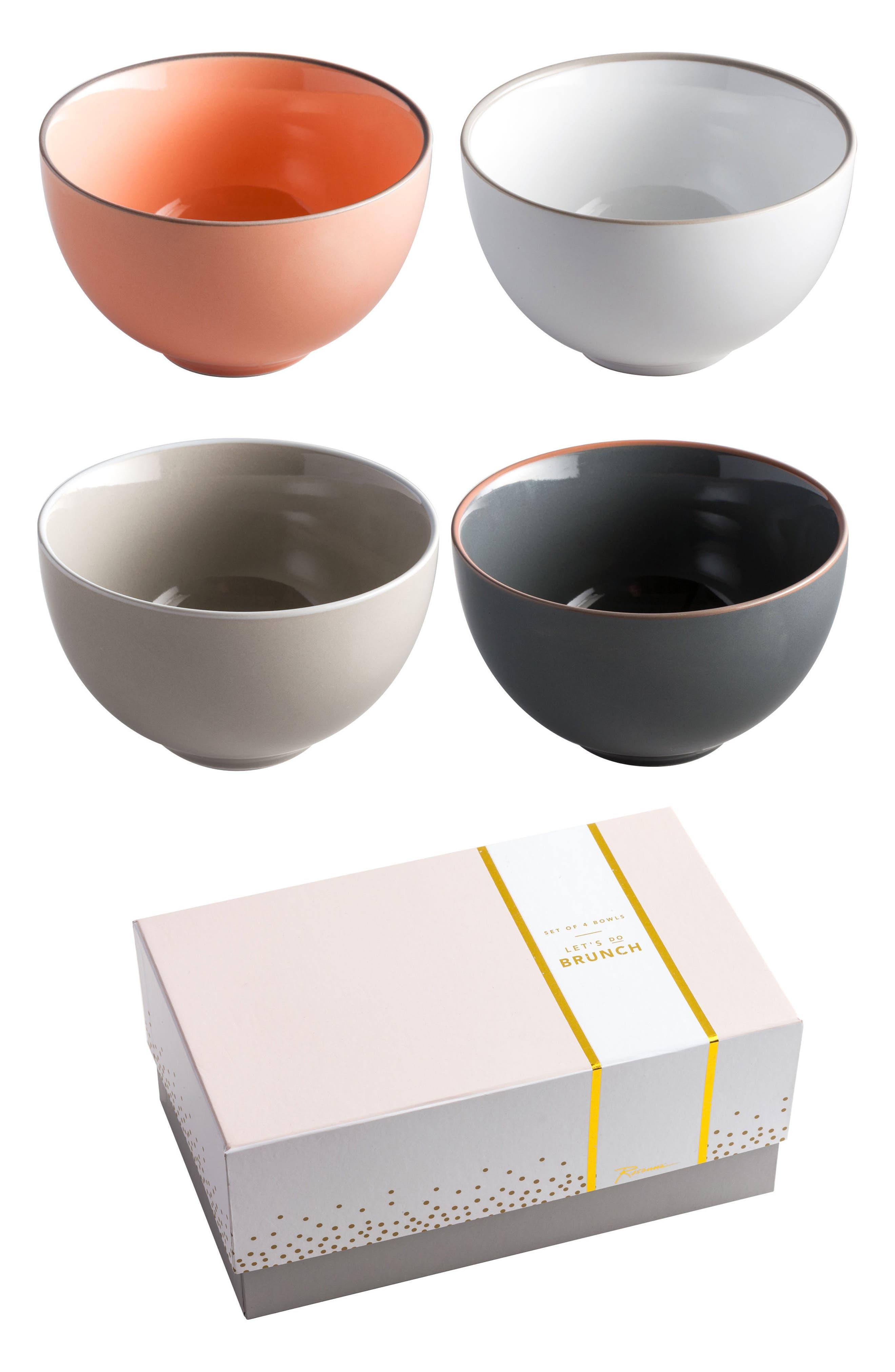 Let's Do Brunch Set of 4 Bowls,                             Main thumbnail 1, color,