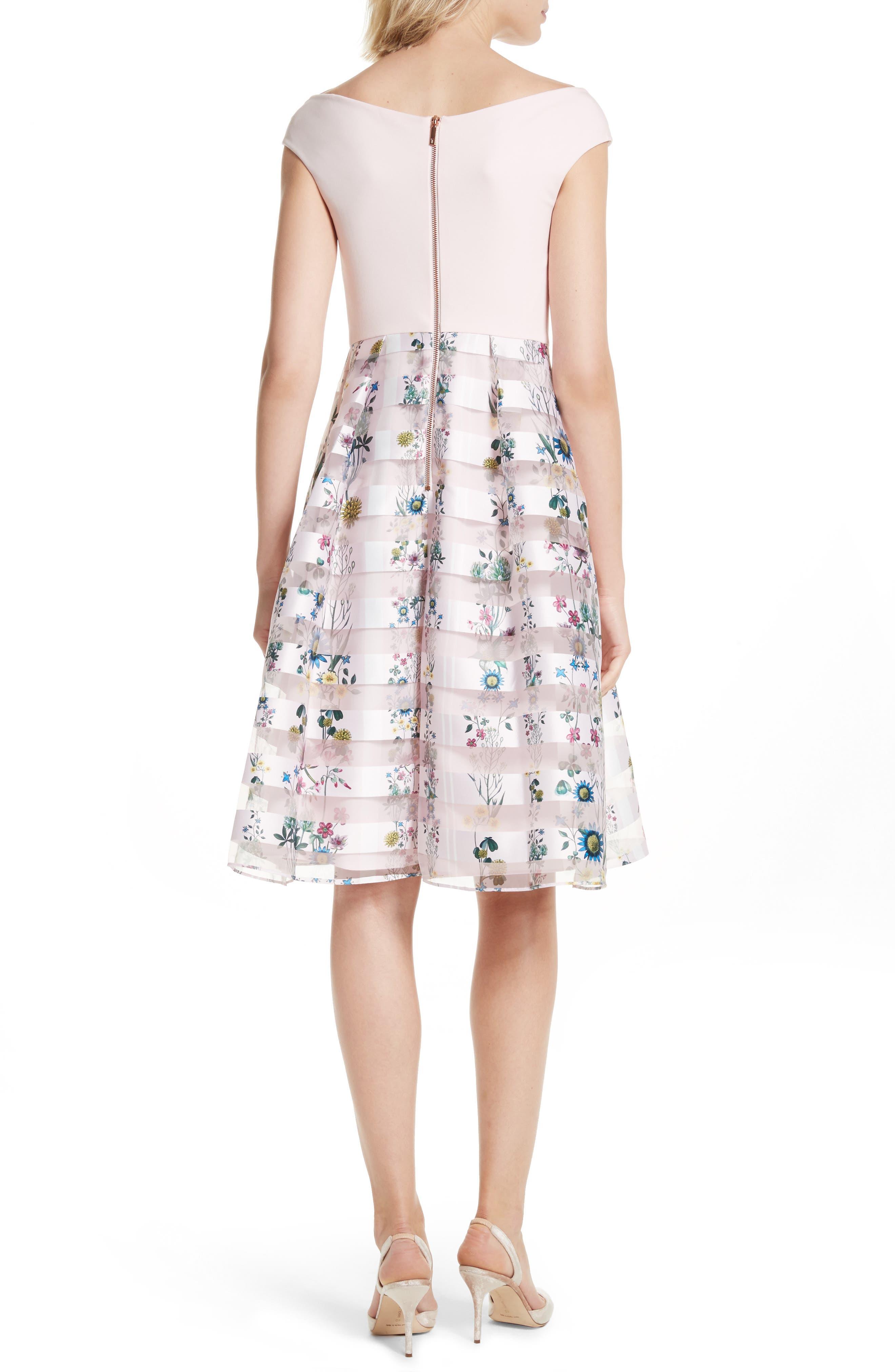 Lulou Unity Floral Off the Shoulder Dress,                             Alternate thumbnail 2, color,                             672