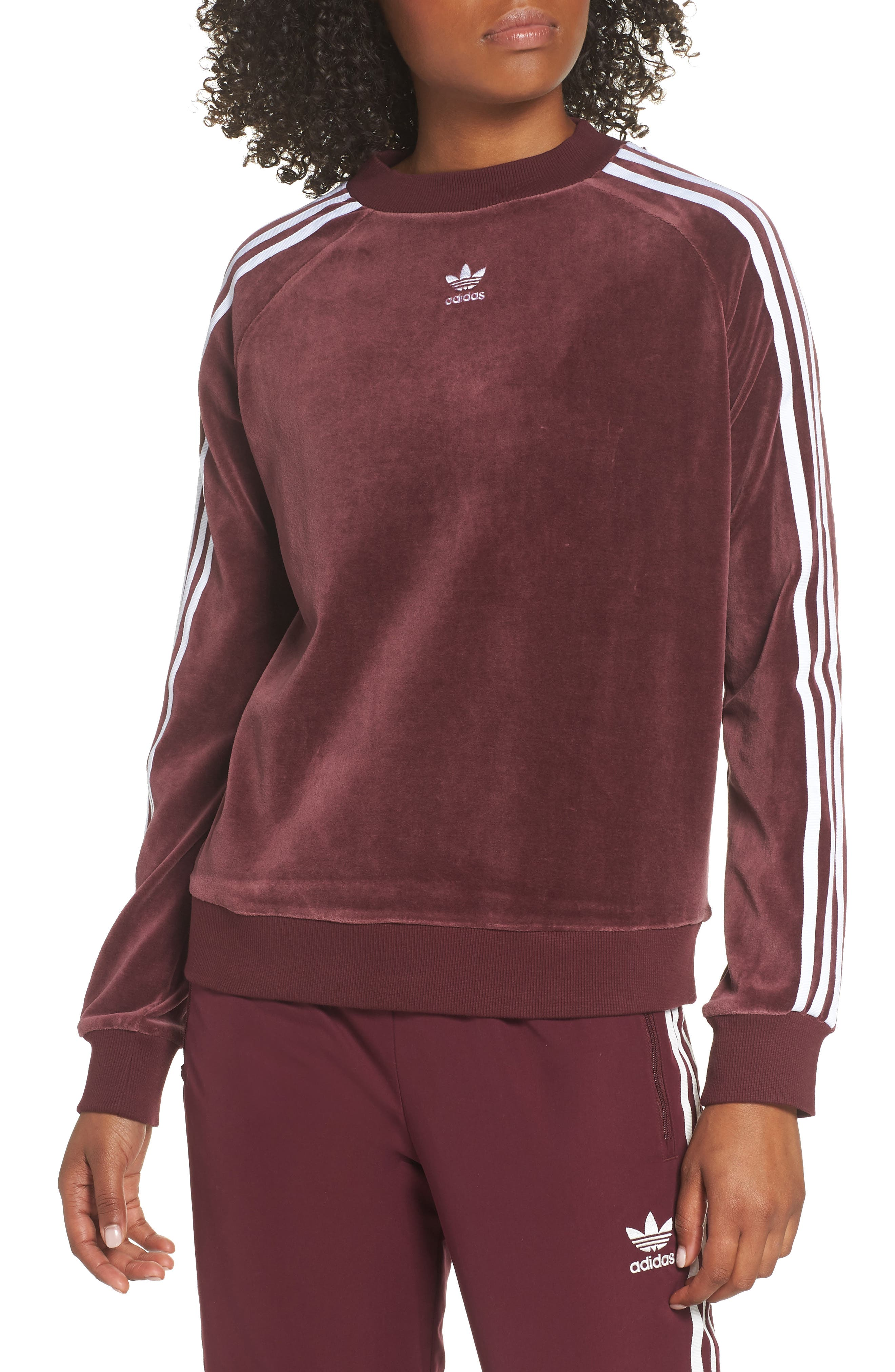 TRF Sweatshirt,                         Main,                         color, MAROON