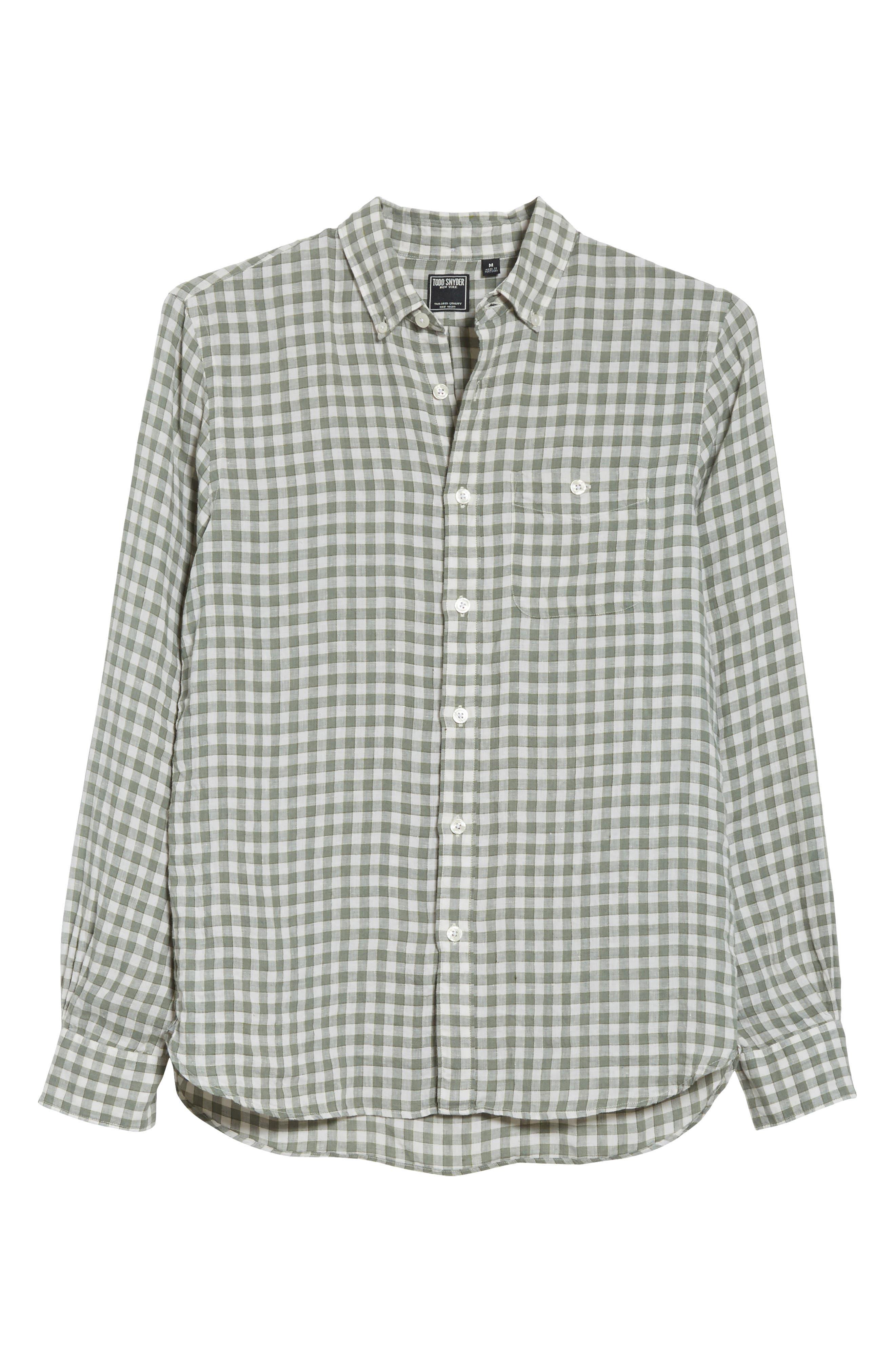 Check Woven Shirt,                             Alternate thumbnail 6, color,                             300