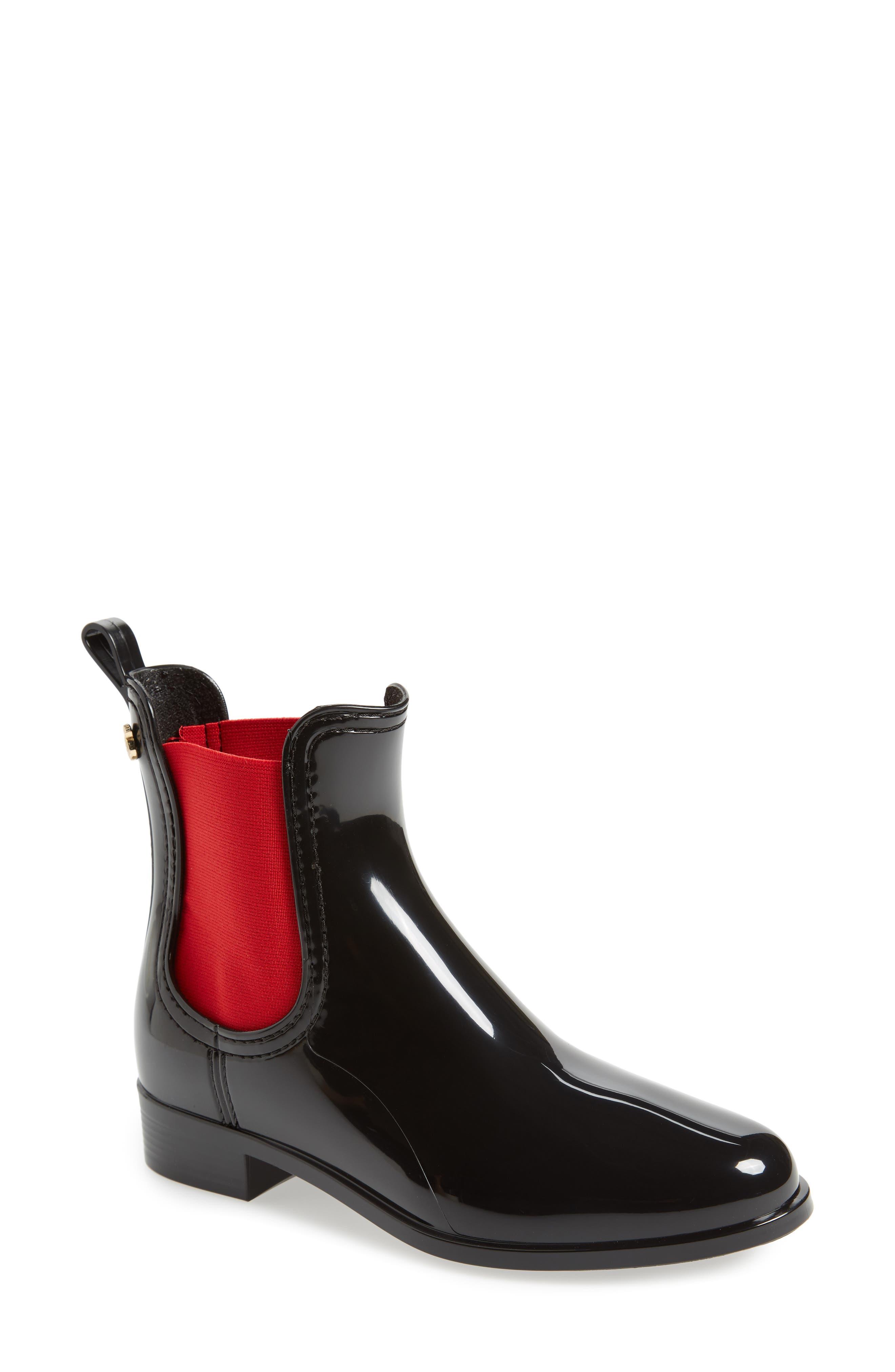 Pisa Waterproof Chelsea Boot,                             Main thumbnail 1, color,                             BLACK GLOSS