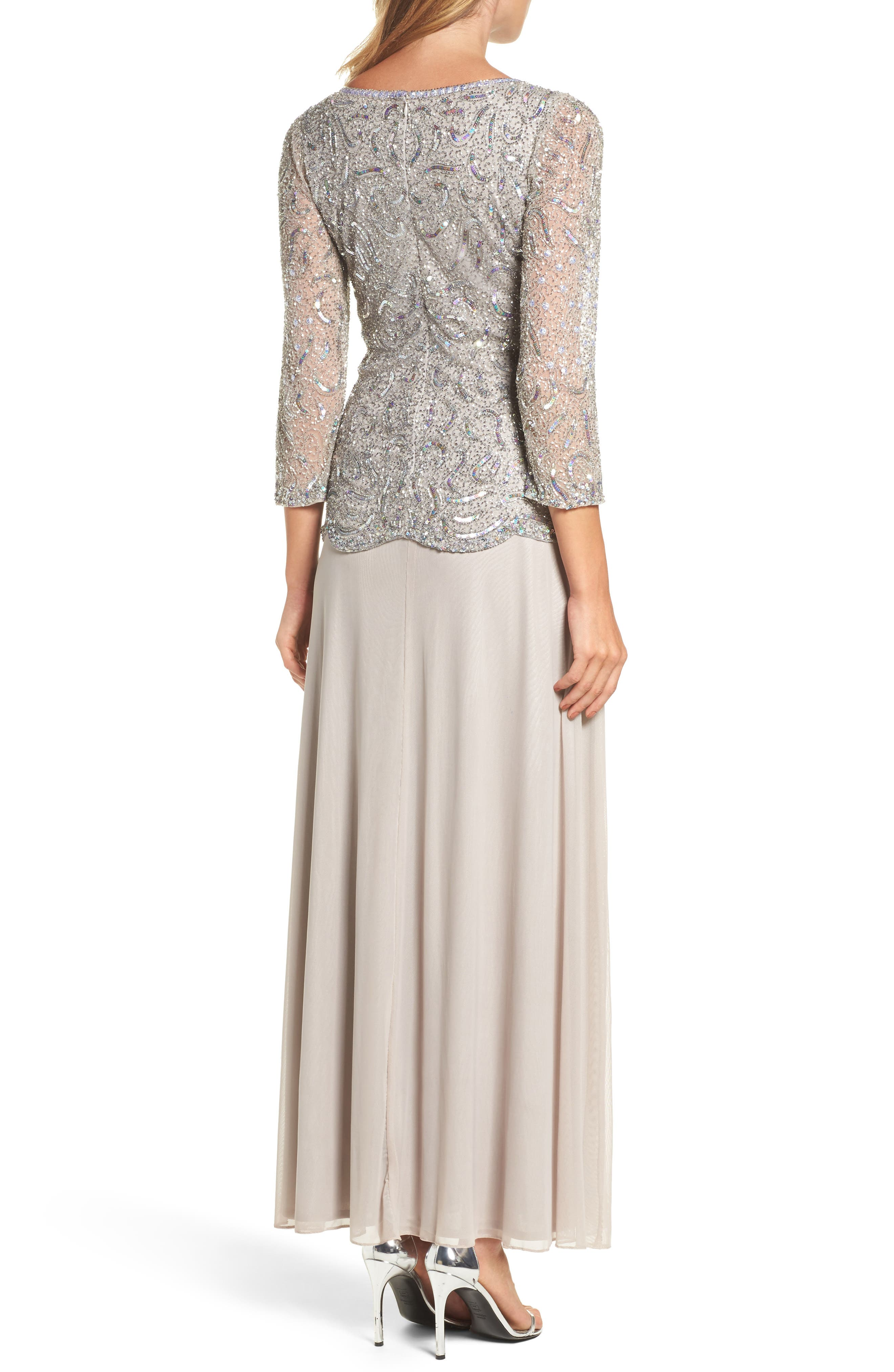 Embellished Two-Piece Gown,                             Alternate thumbnail 2, color,