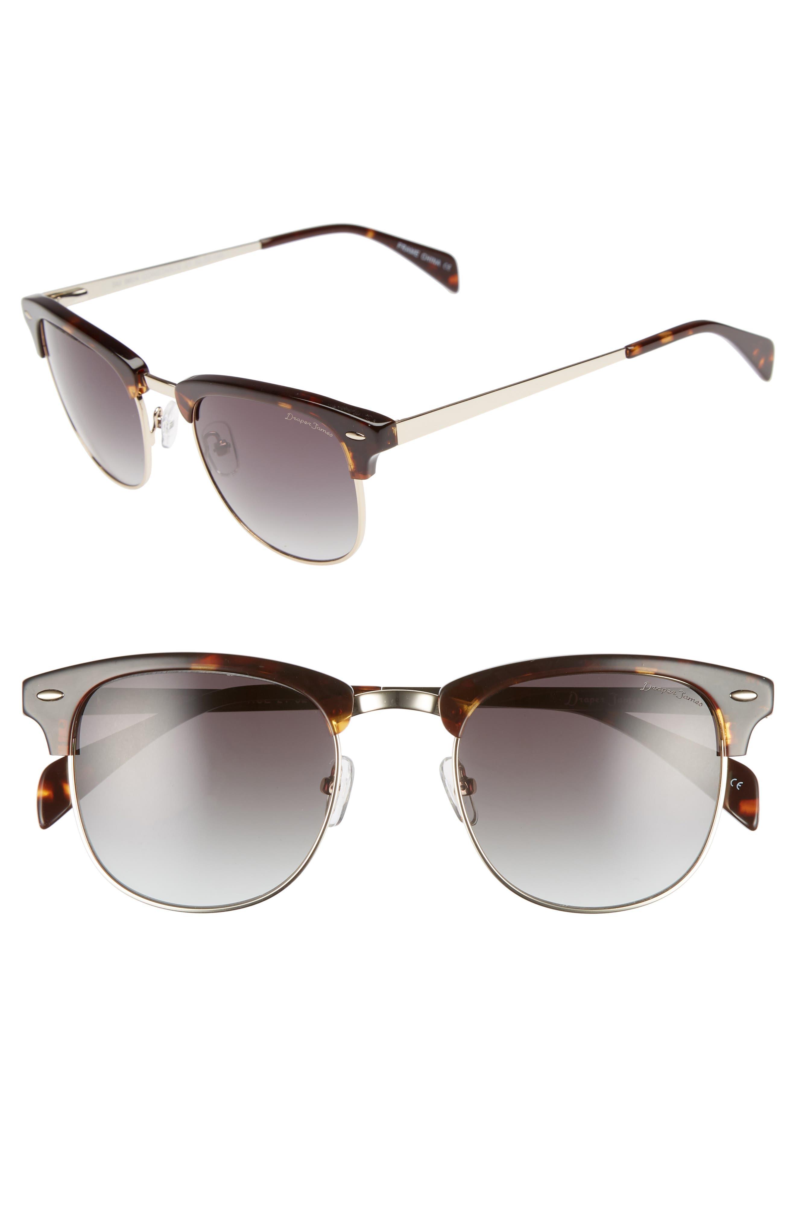 DRAPER JAMES 55Mm Sunglasses - Tortoise