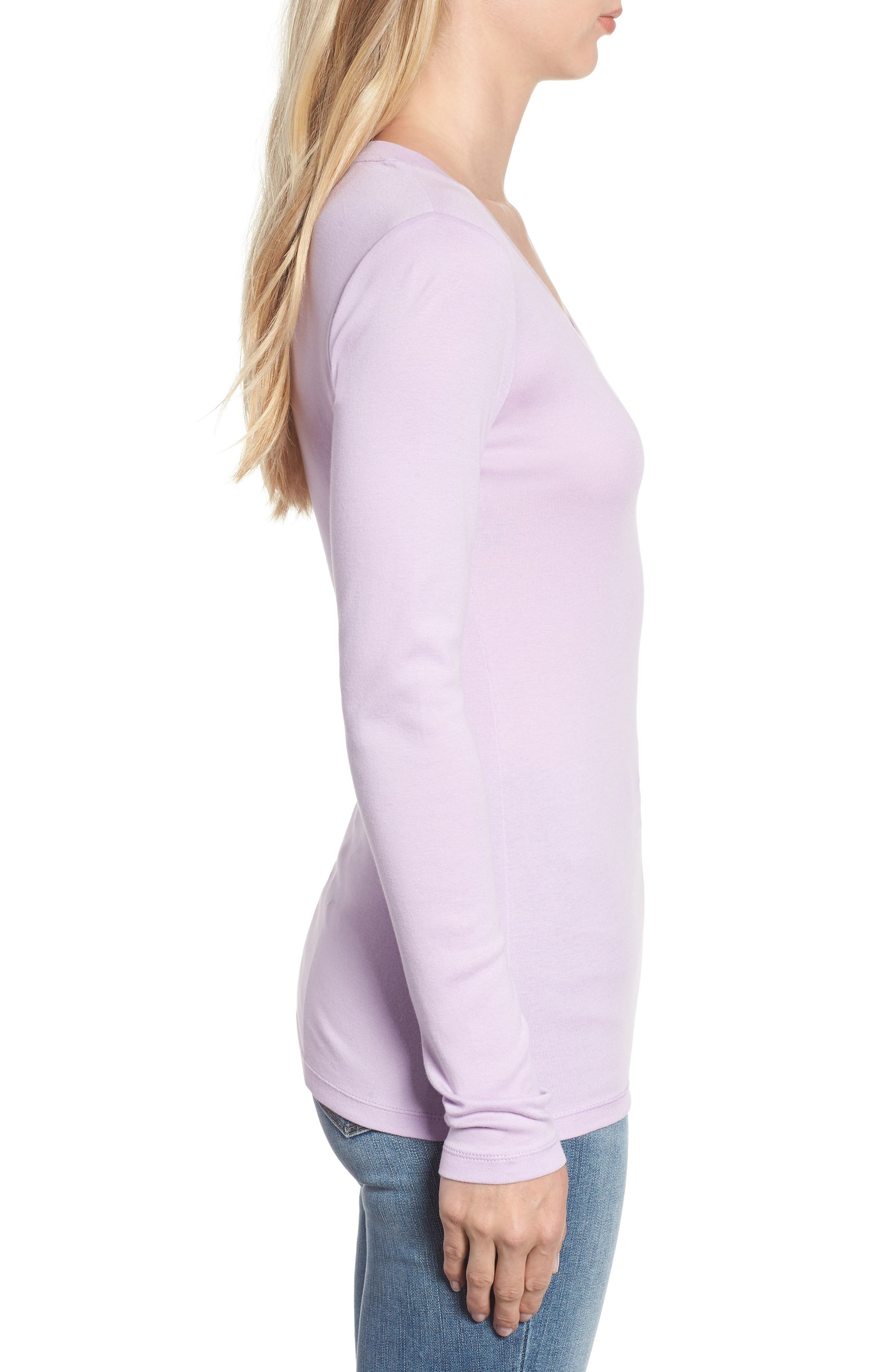 'Melody' Long Sleeve Scoop Neck Tee,                             Alternate thumbnail 3, color,                             530