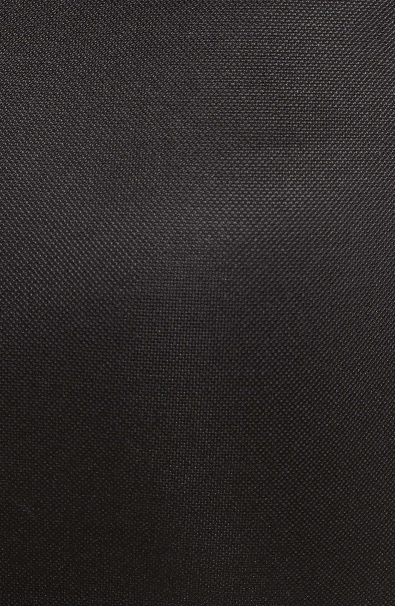 Ruched Piqué Sheath Dress,                             Alternate thumbnail 5, color,                             001