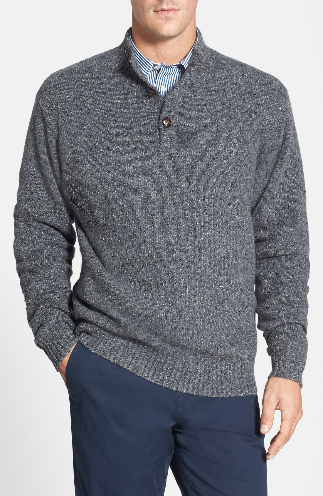 Donegal Italian Wool Blend Pullover, Main, color, 022