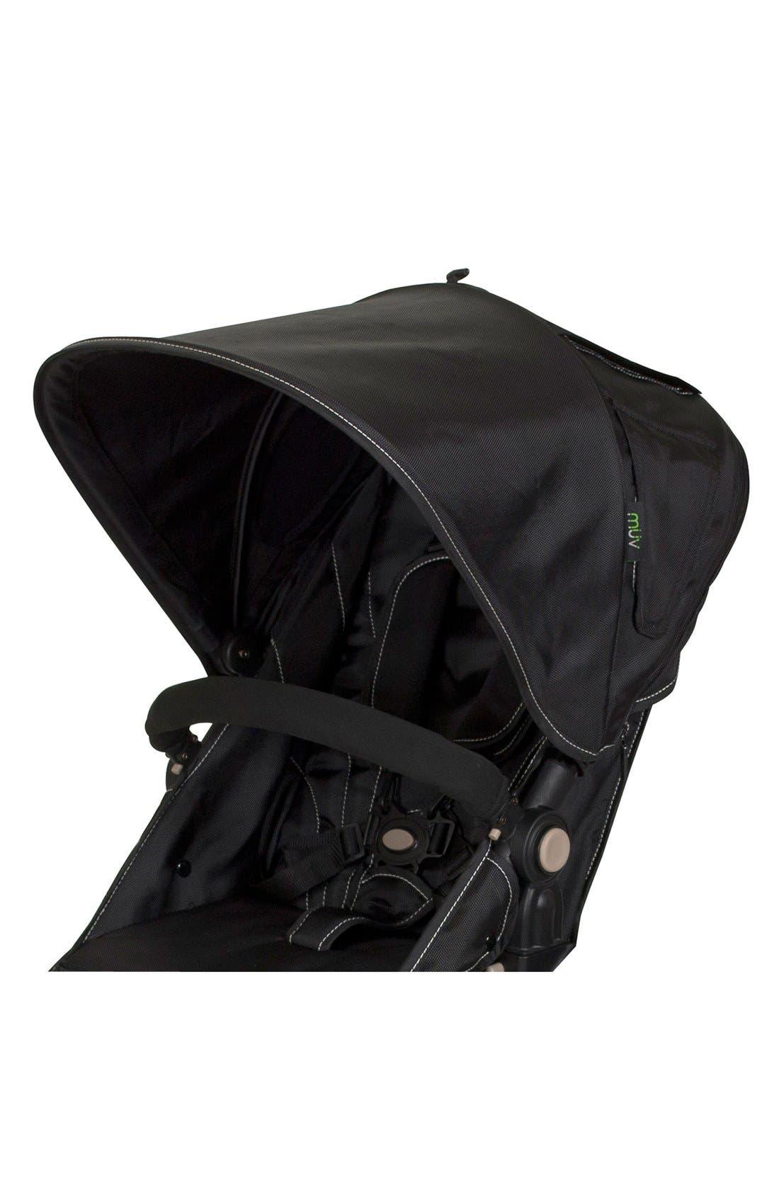 KOEPEL Stroller Canopy,                             Main thumbnail 1, color,                             MYSTIC BLACK