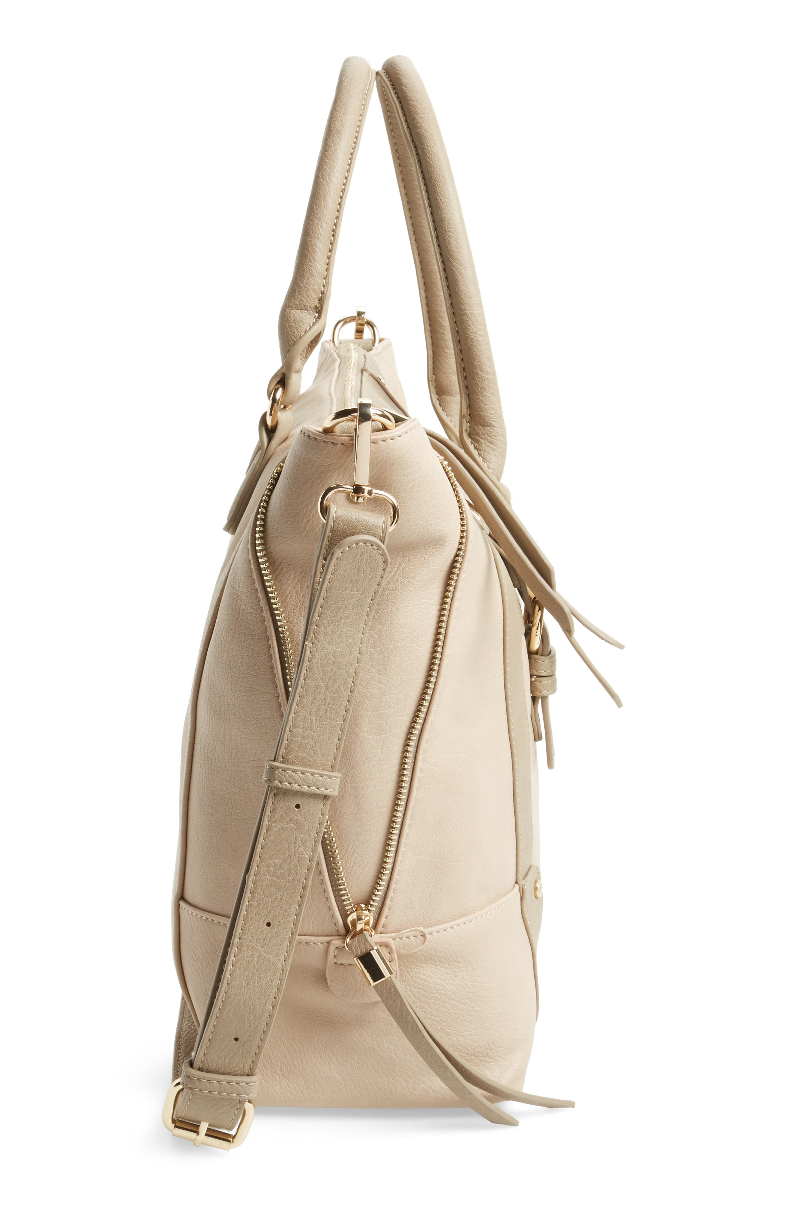 'Susan' Winged Faux Leather Tote,                             Alternate thumbnail 27, color,