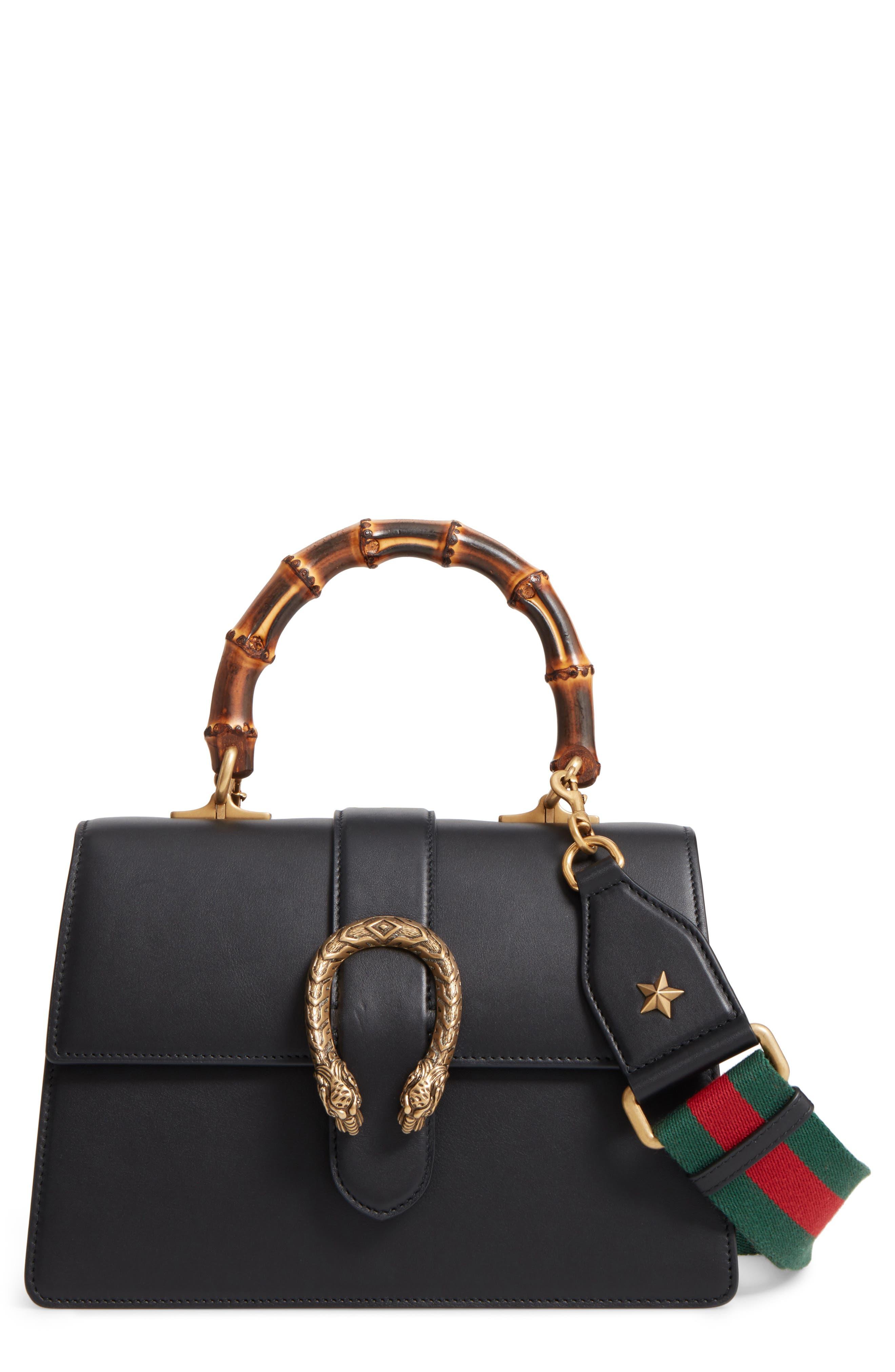 Large Dionysus Top Handle Leather Shoulder Bag,                             Main thumbnail 1, color,                             001
