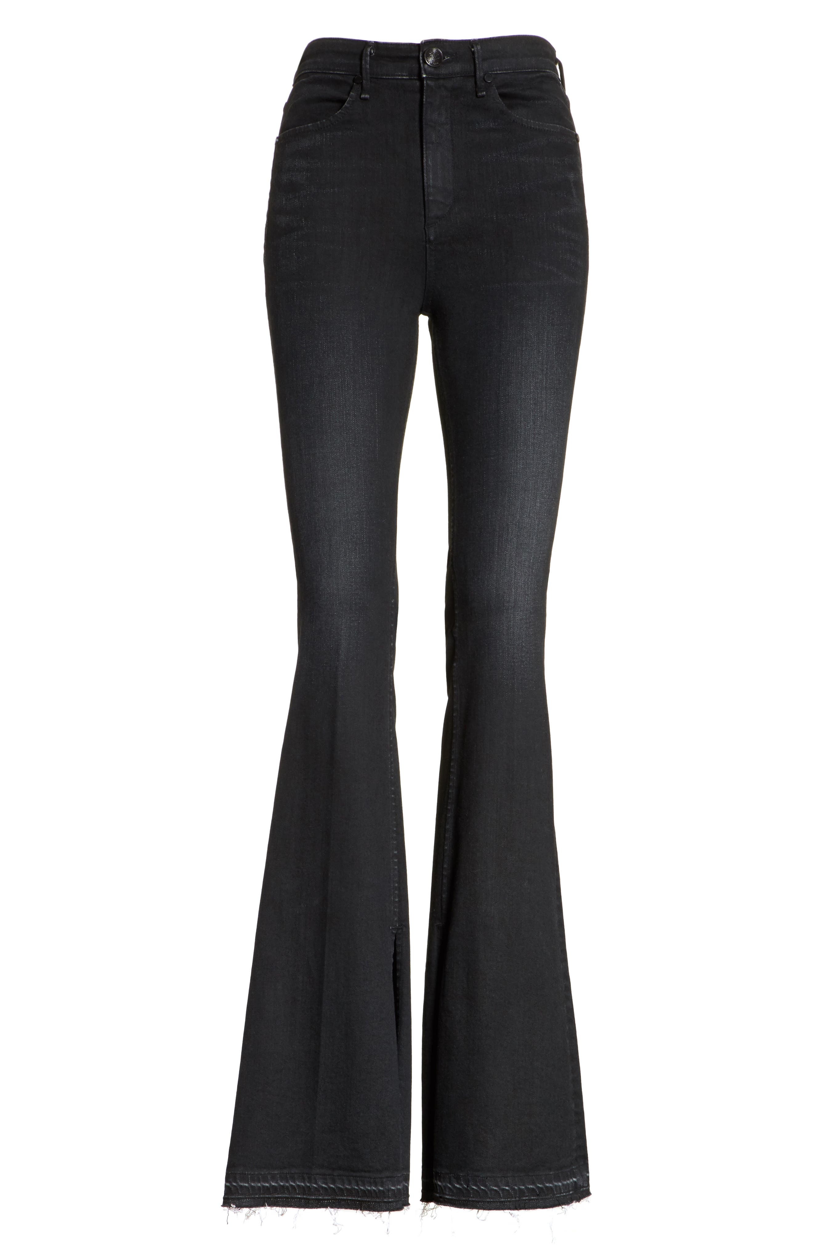 Bella Flare Jeans,                             Alternate thumbnail 6, color,                             001