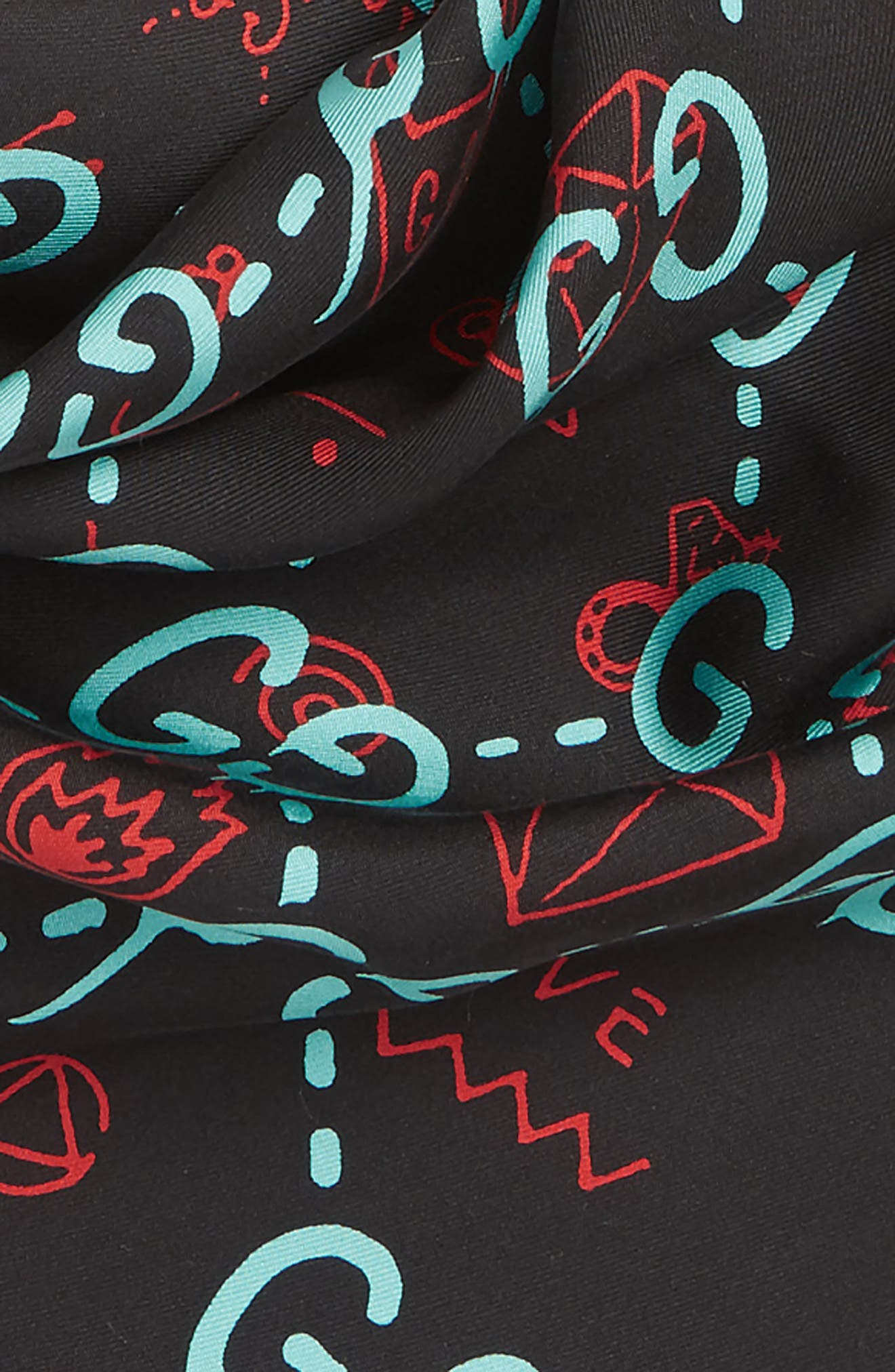 Real GG Scarf,                             Alternate thumbnail 3, color,                             001