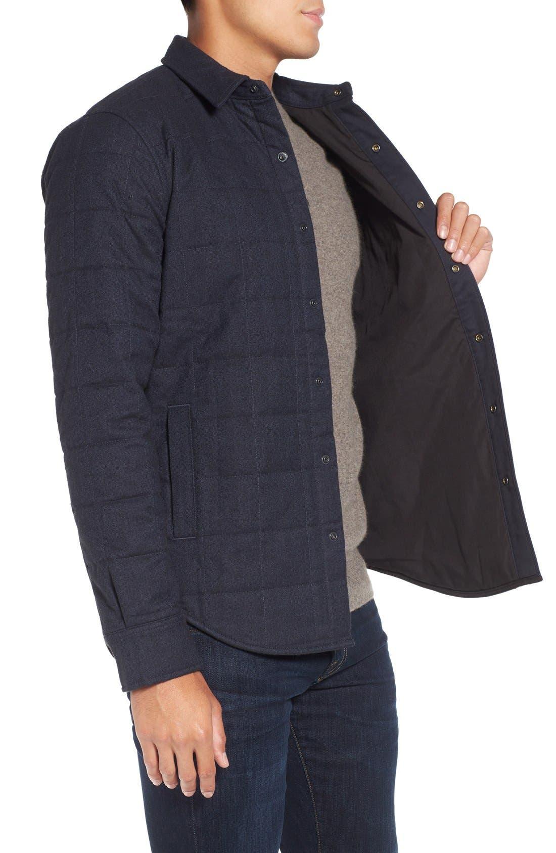 Quilted Herringbone Shirt Jacket,                             Alternate thumbnail 2, color,