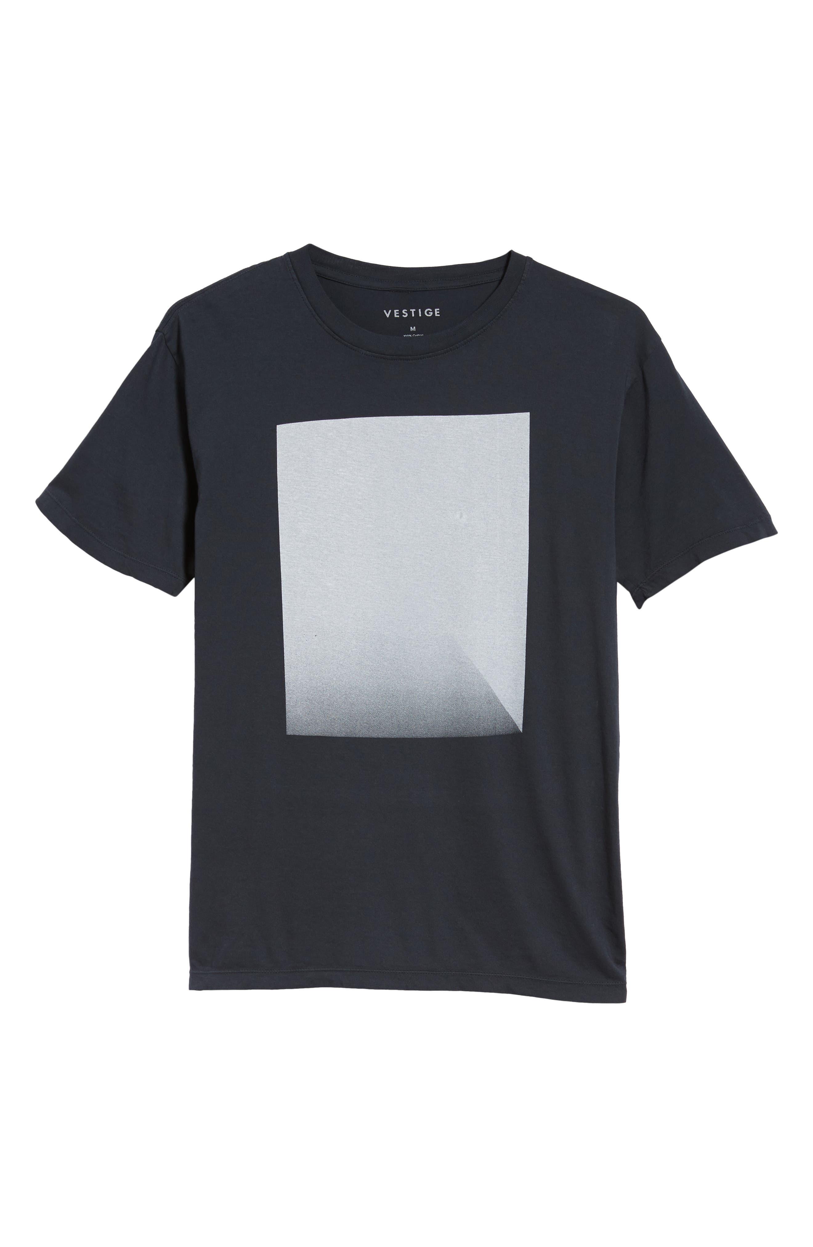 Fadeaway Graphic T-Shirt,                             Alternate thumbnail 6, color,                             CARBON