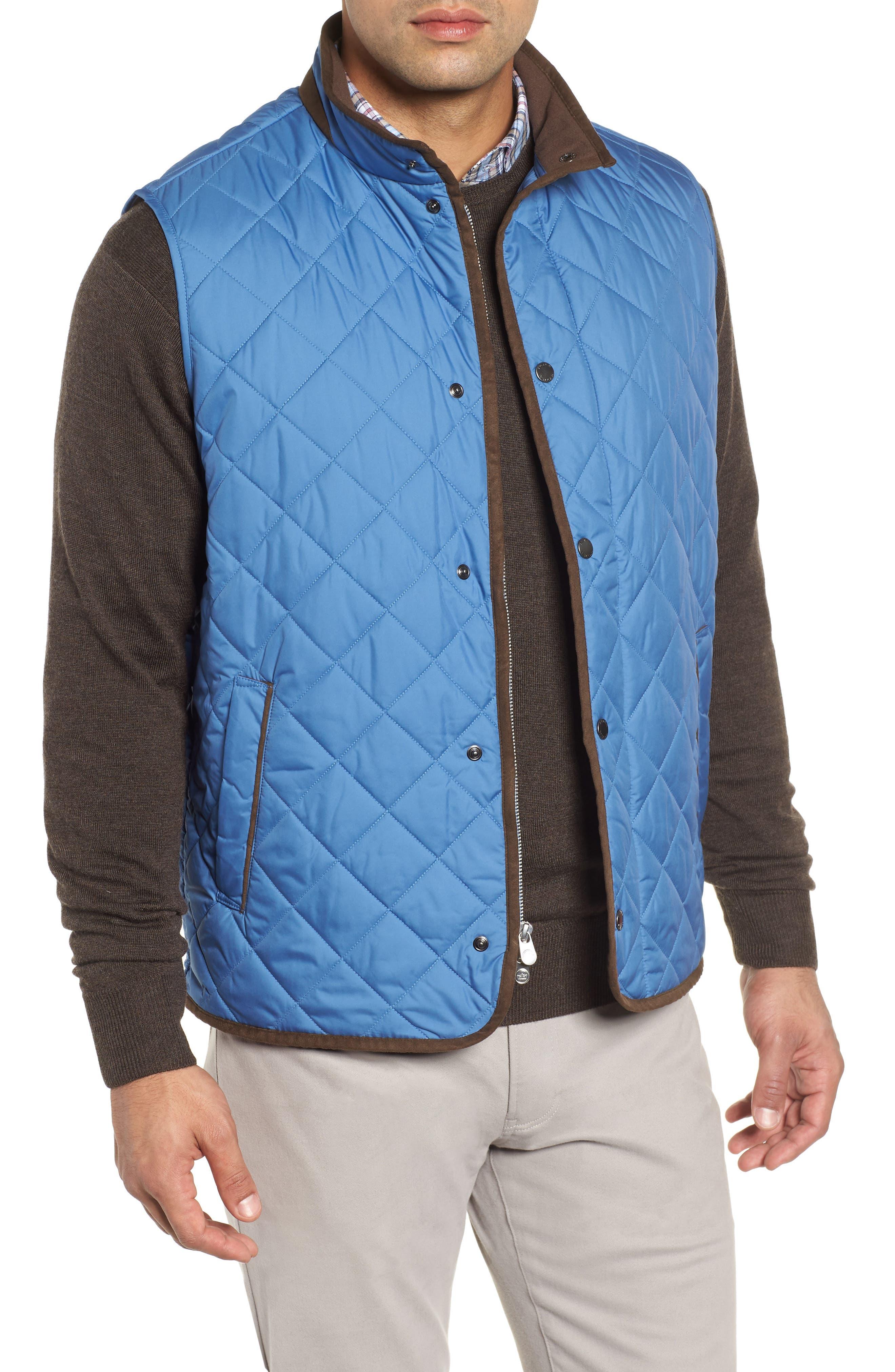 Peter Millar Essex Quilted Vest, Blue