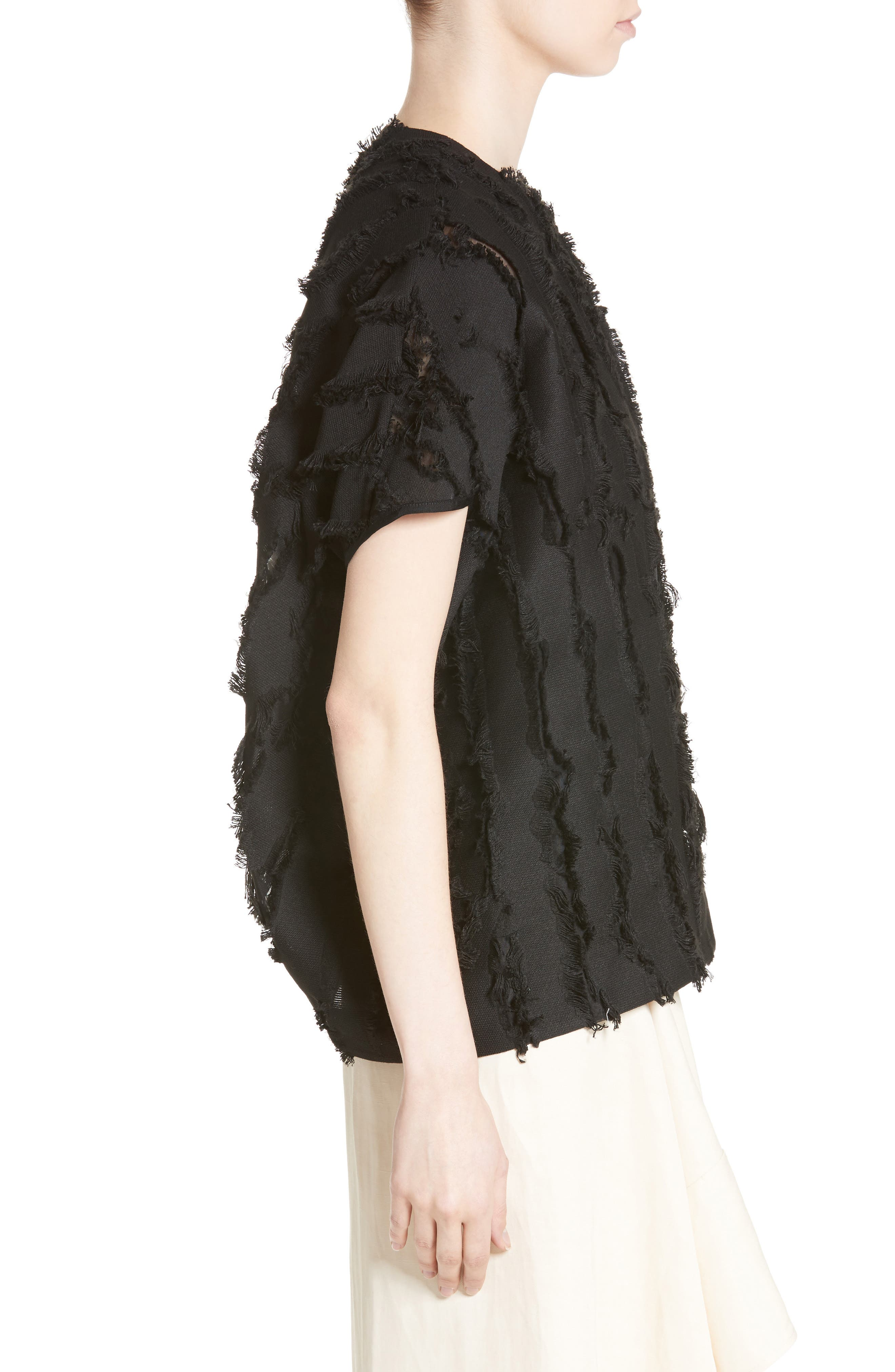 Koya Fringe Royal Shrug,                             Alternate thumbnail 3, color,                             001